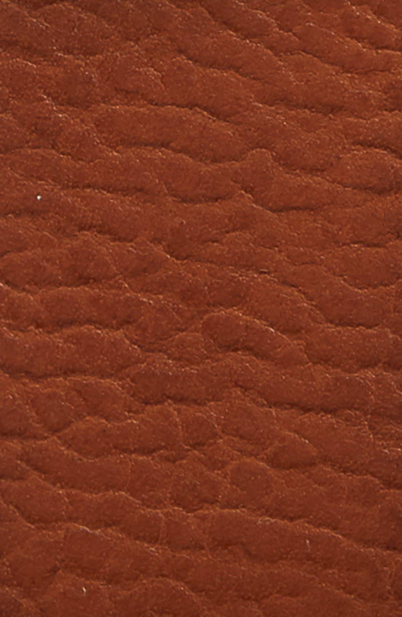 FRYE, Flat Panel Leather Belt, Alternate thumbnail 2, color, COGNAC