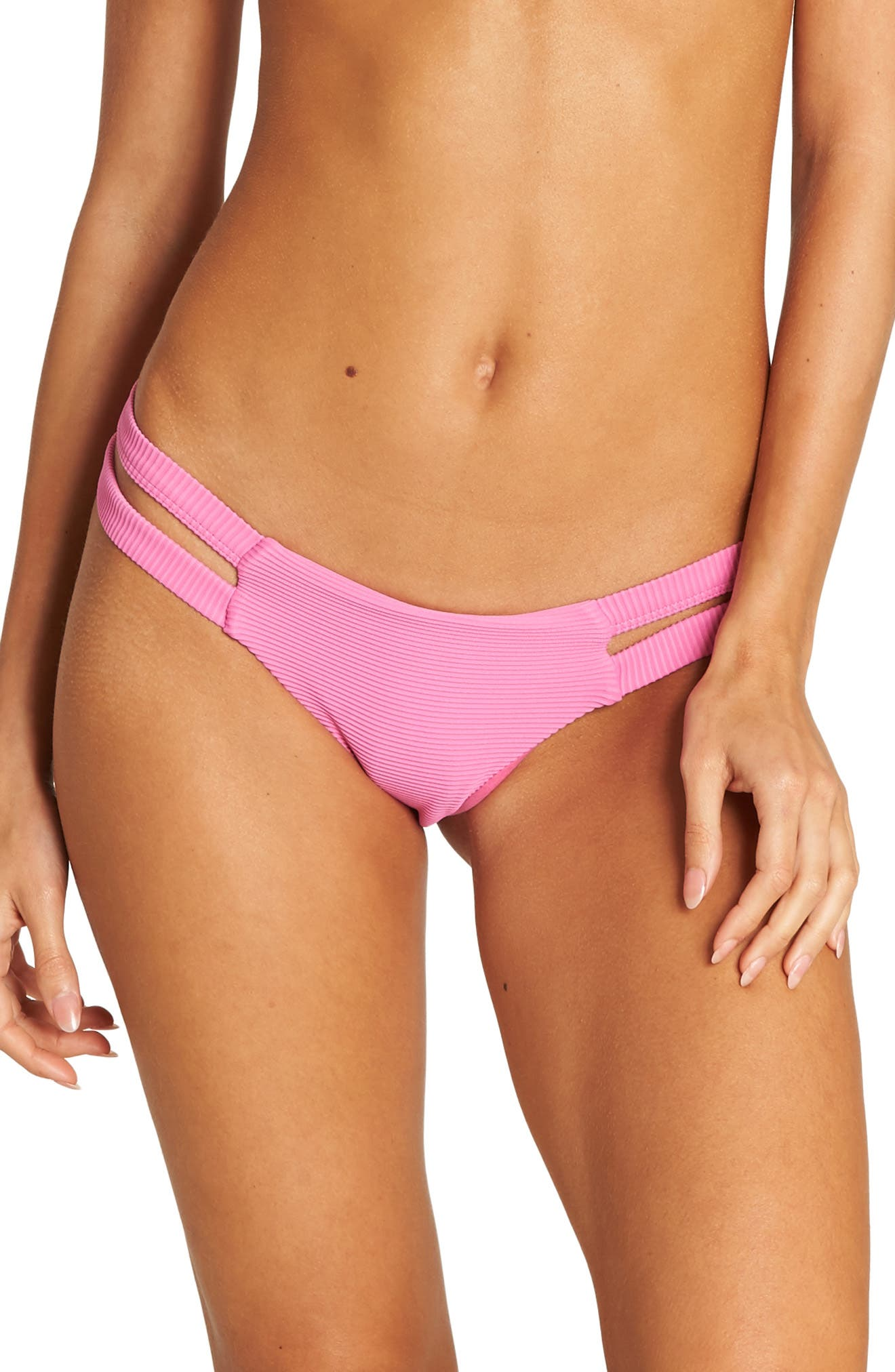 BILLABONG Tanlines Isla Bikini Bottoms, Main, color, ROSA