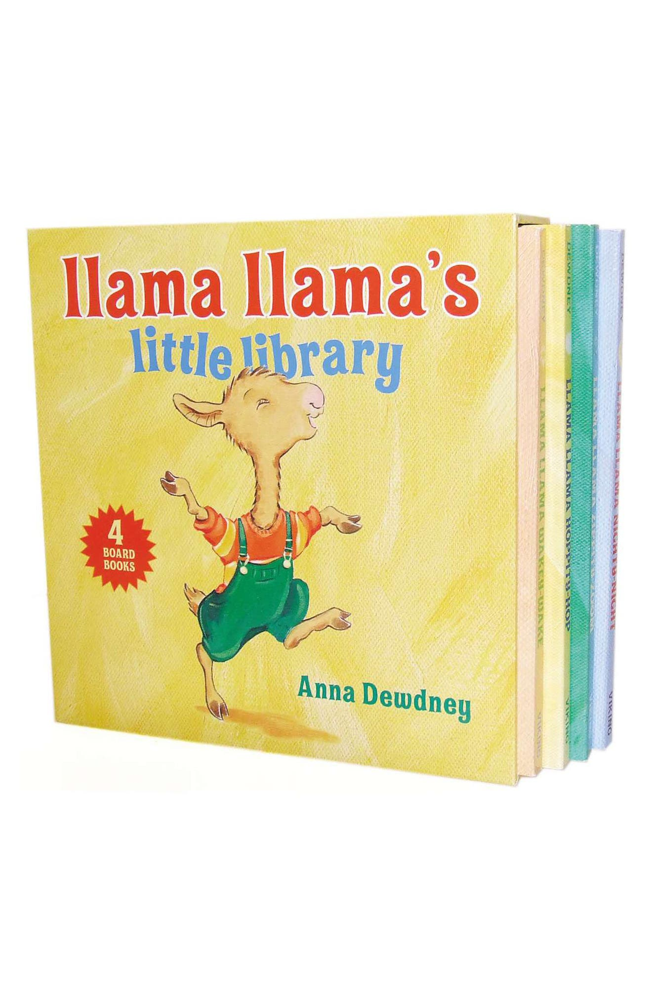 PENGUIN RANDOM HOUSE, 'Llama Llama's Little Library' 4-Pack Book Set, Main thumbnail 1, color, MISCELLANEOUS