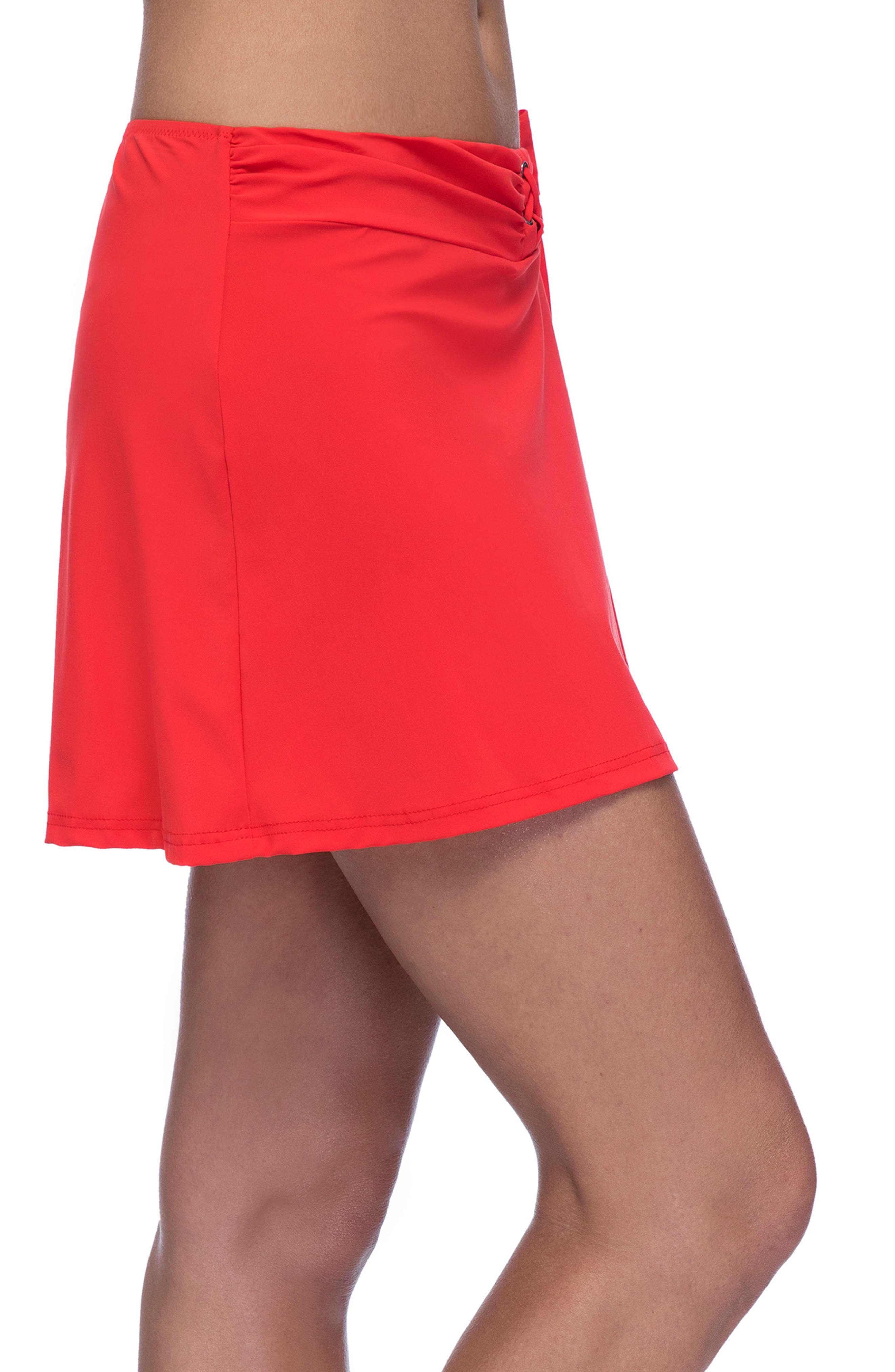 PROFILE BY GOTTEX, Cover-Up Skirt, Alternate thumbnail 3, color, TANGERINE