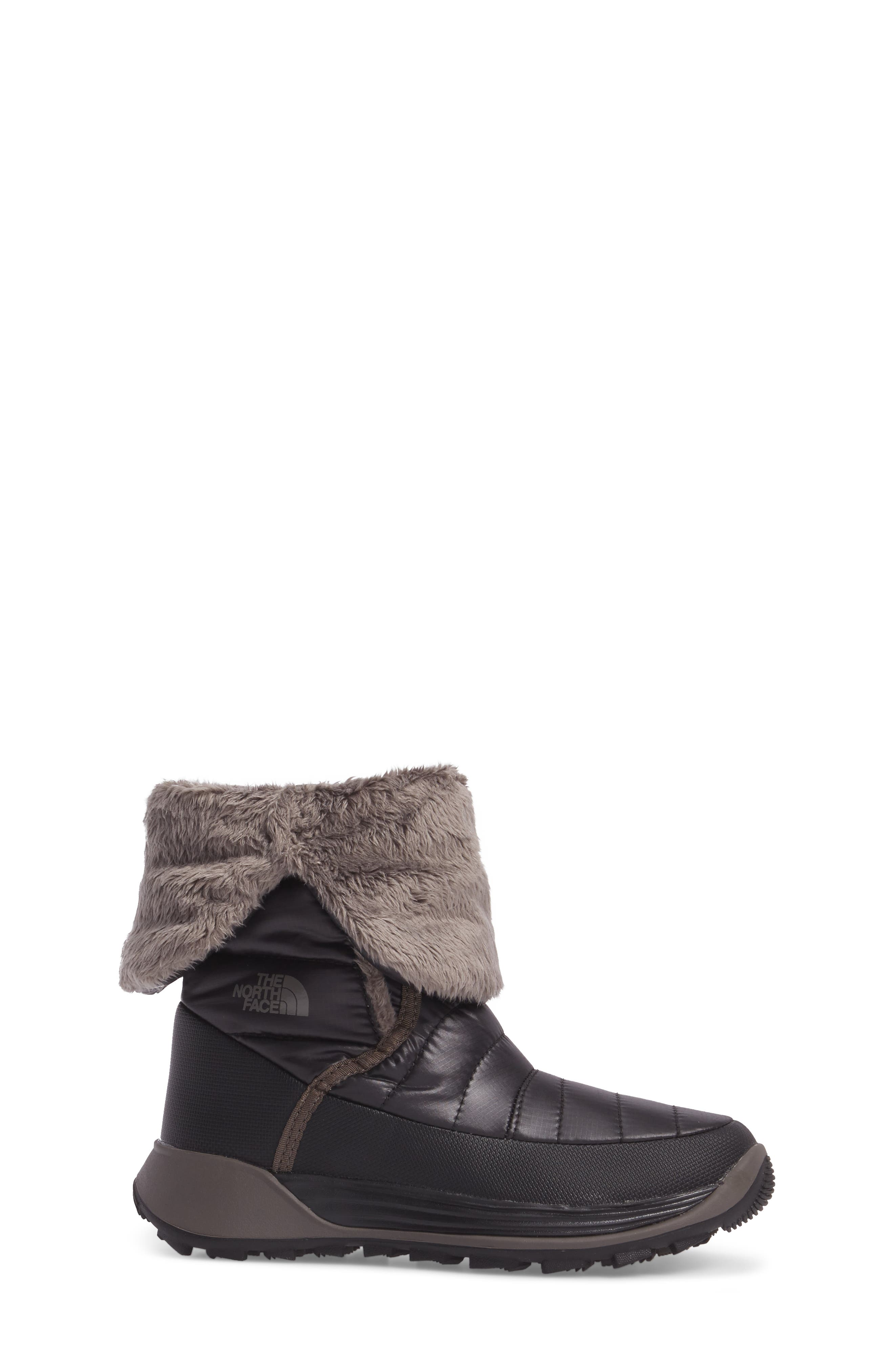 THE NORTH FACE, Amore II Water-Resistant Winter Boot, Alternate thumbnail 3, color, TNF BLACK/ DARK GULL GREY