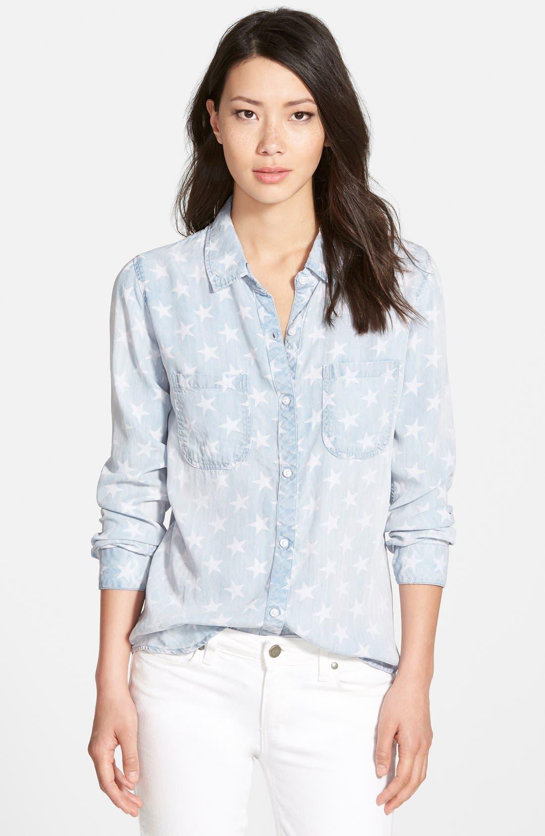 RAILS, 'Carter' Chambray Shirt, Main thumbnail 1, color, 425