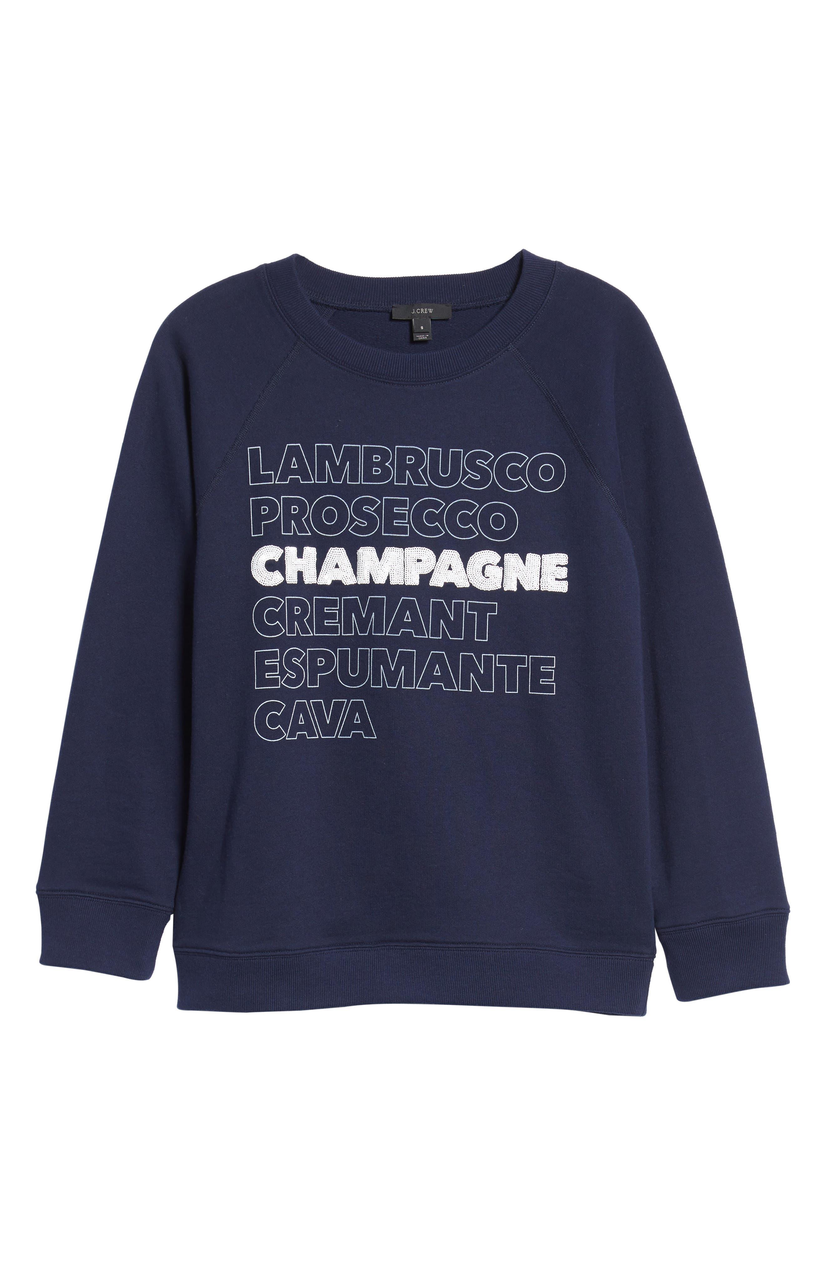J.CREW, Champagne Sweatshirt, Alternate thumbnail 6, color, 400