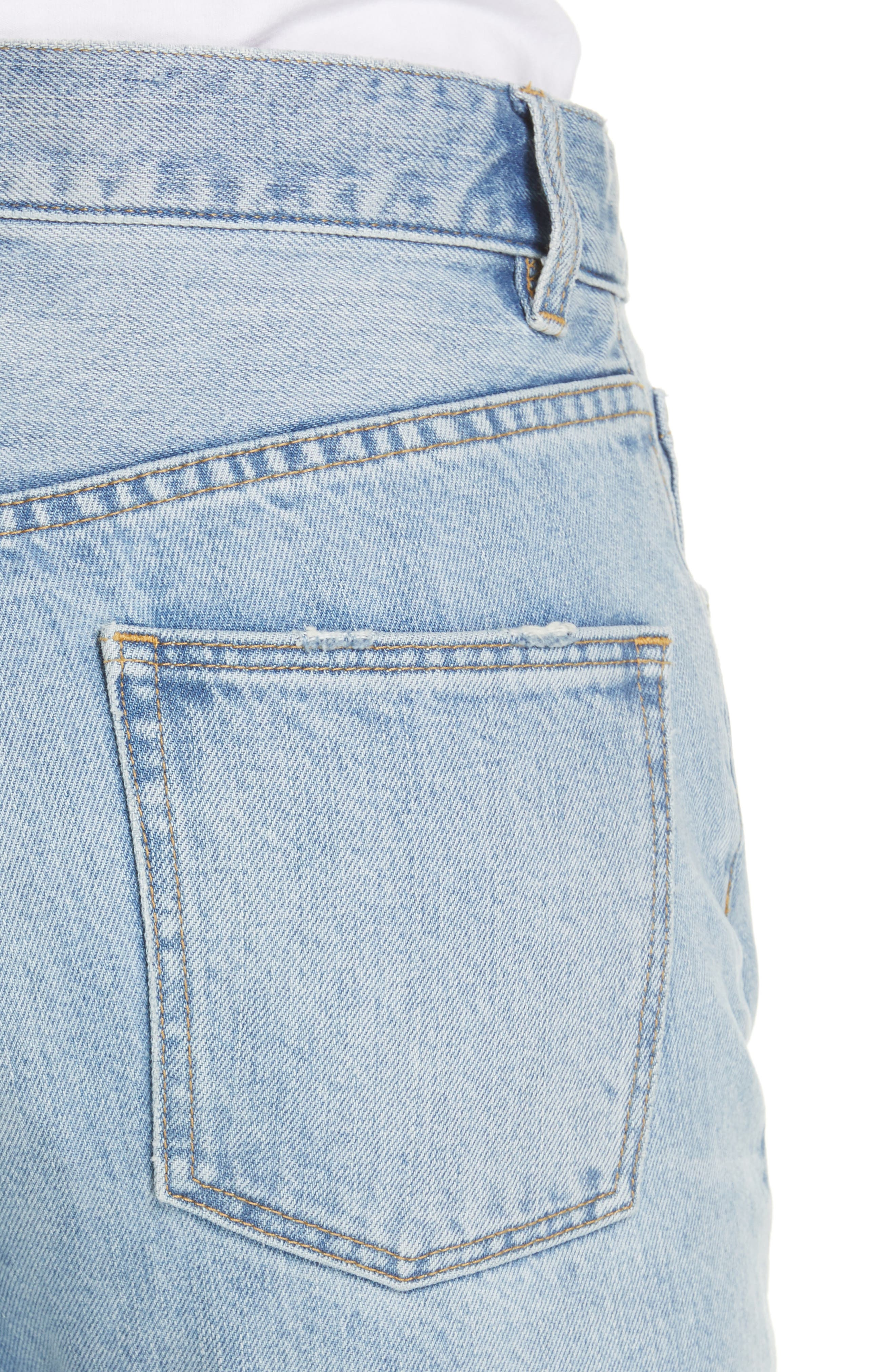LA VIE REBECCA TAYLOR, Sylvie High Waist Jeans, Alternate thumbnail 5, color, CHANTAL WASH