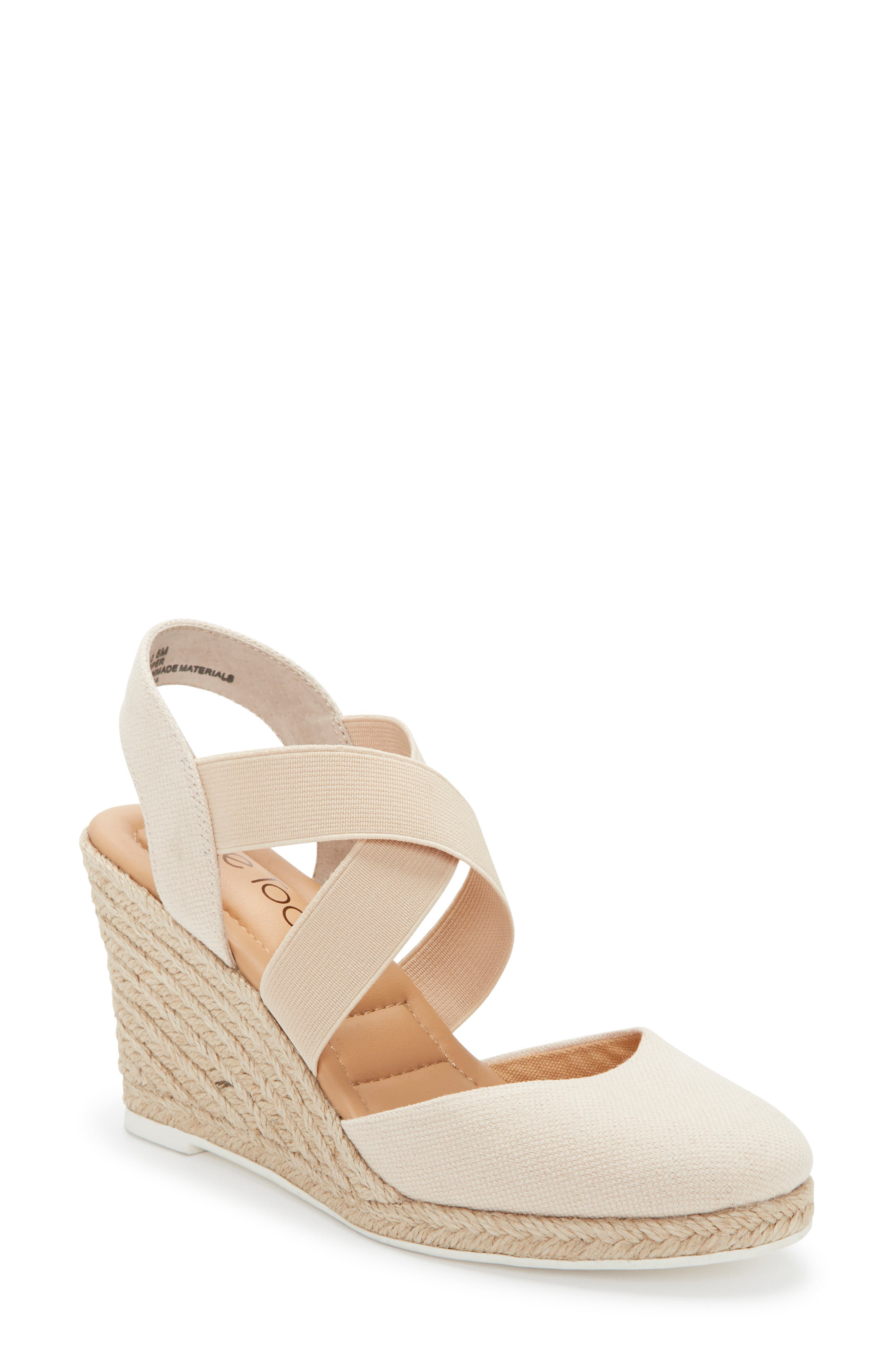 ME TOO Brinley Espadrille Wedge, Main, color, NATURAL CANVAS