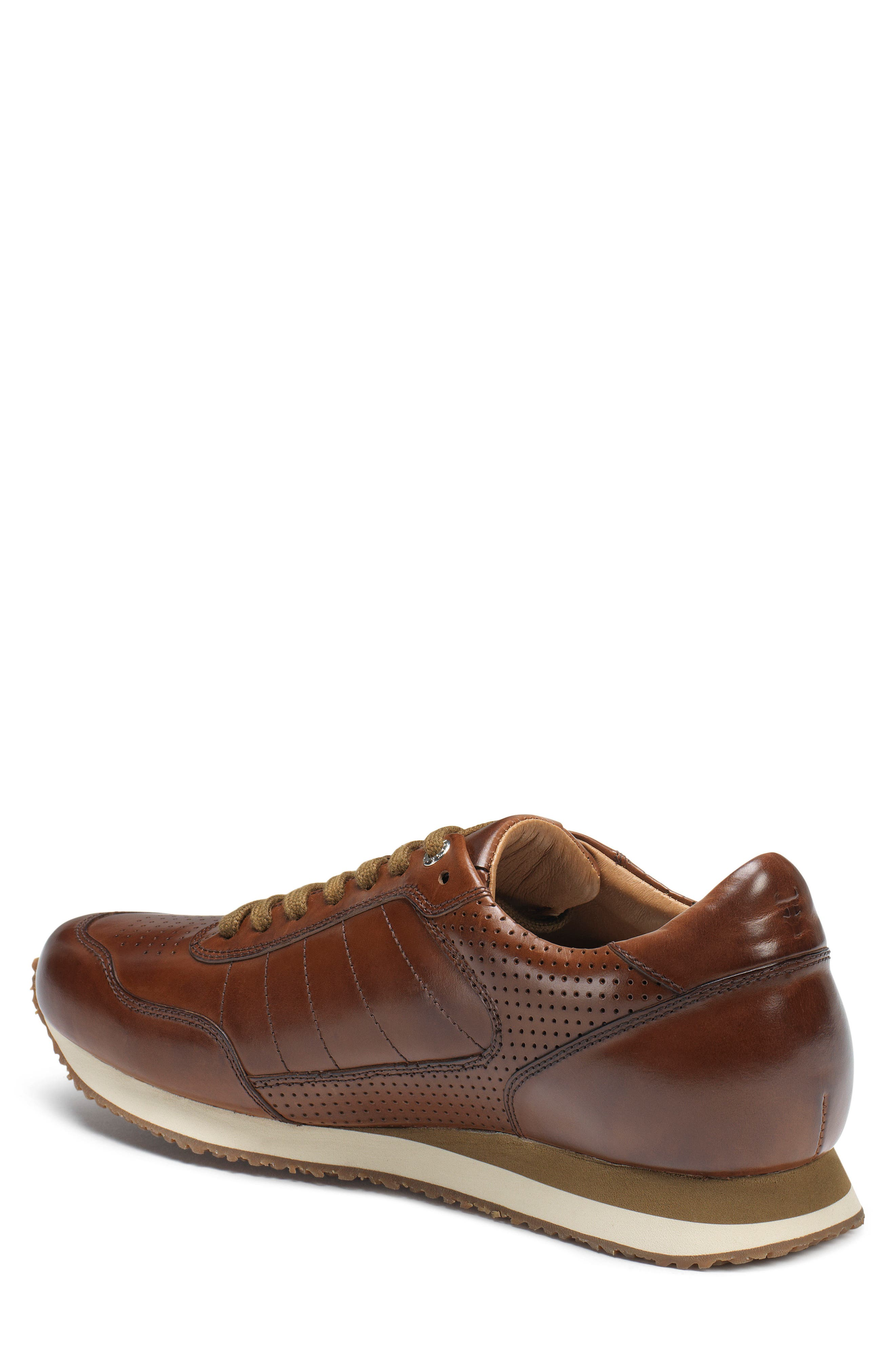 TRASK, Aiden Sneaker, Alternate thumbnail 2, color, BROWN LEATHER