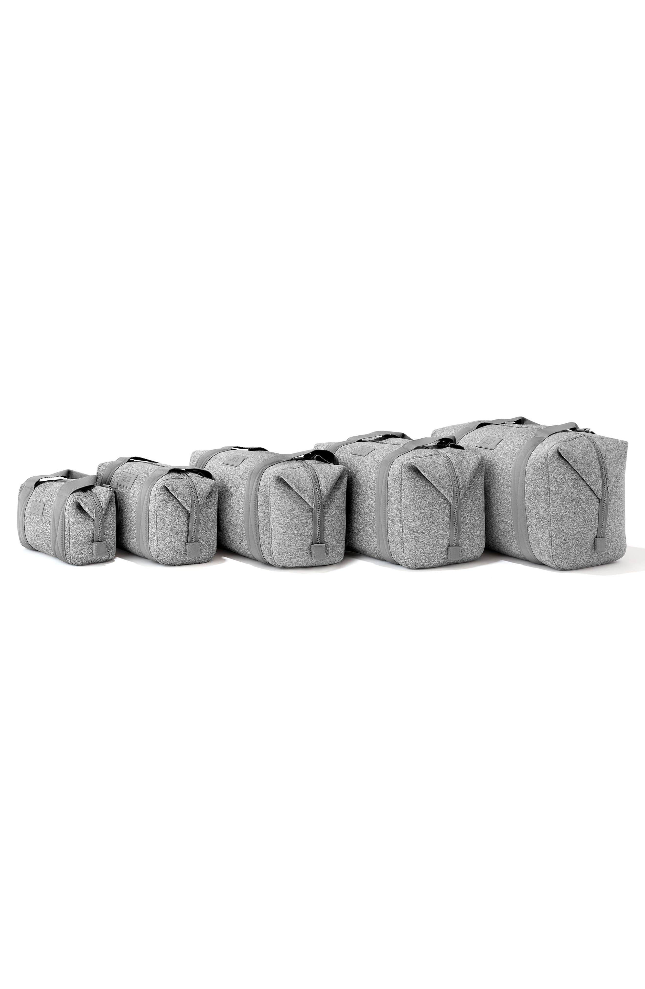 DAGNE DOVER, 365 Medium Landon Neoprene Carryall Duffle Bag, Alternate thumbnail 6, color, HEATHER GREY