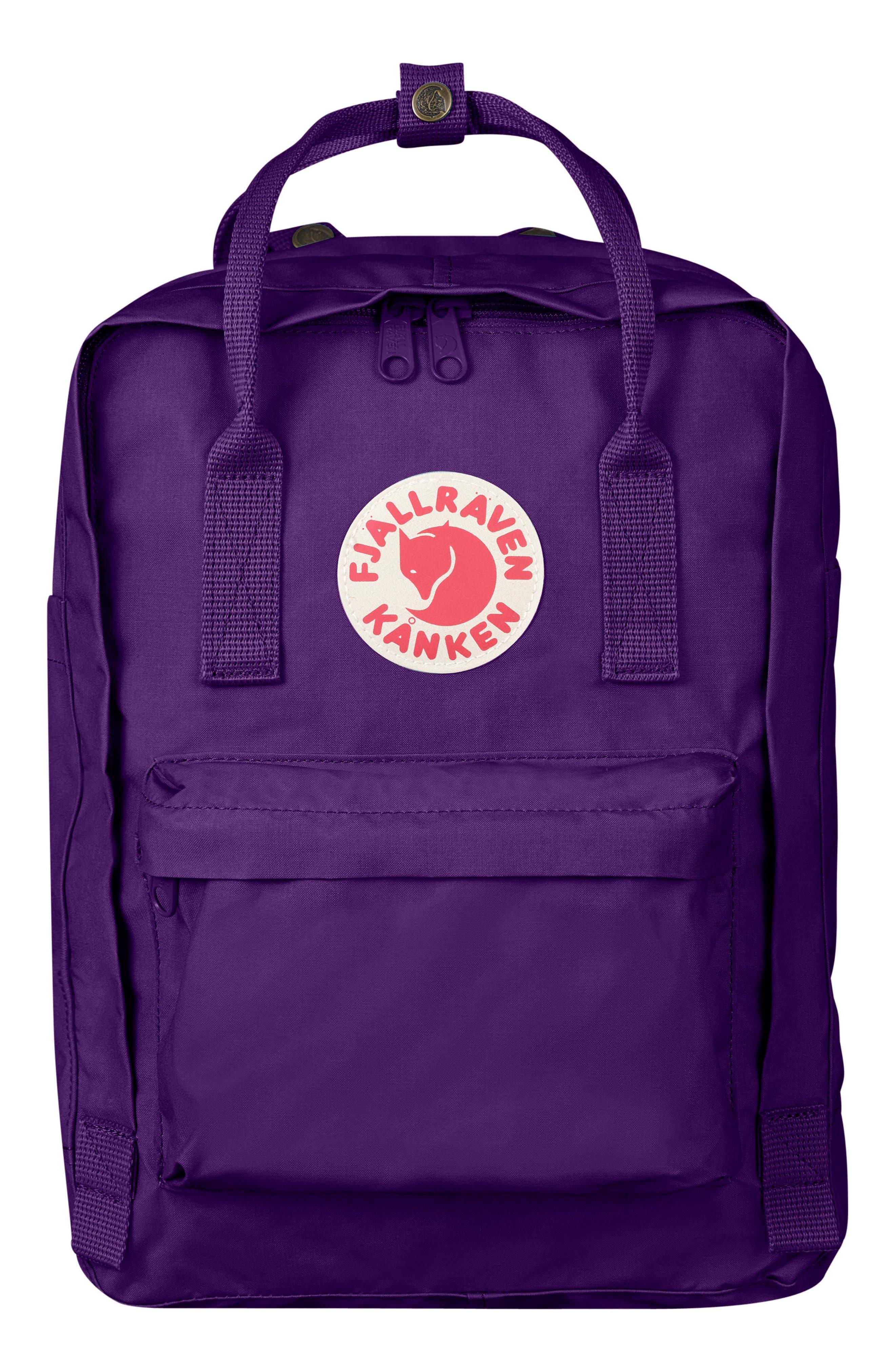 FJÄLLRÄVEN, 'Kånken' Laptop Backpack, Main thumbnail 1, color, PURPLE