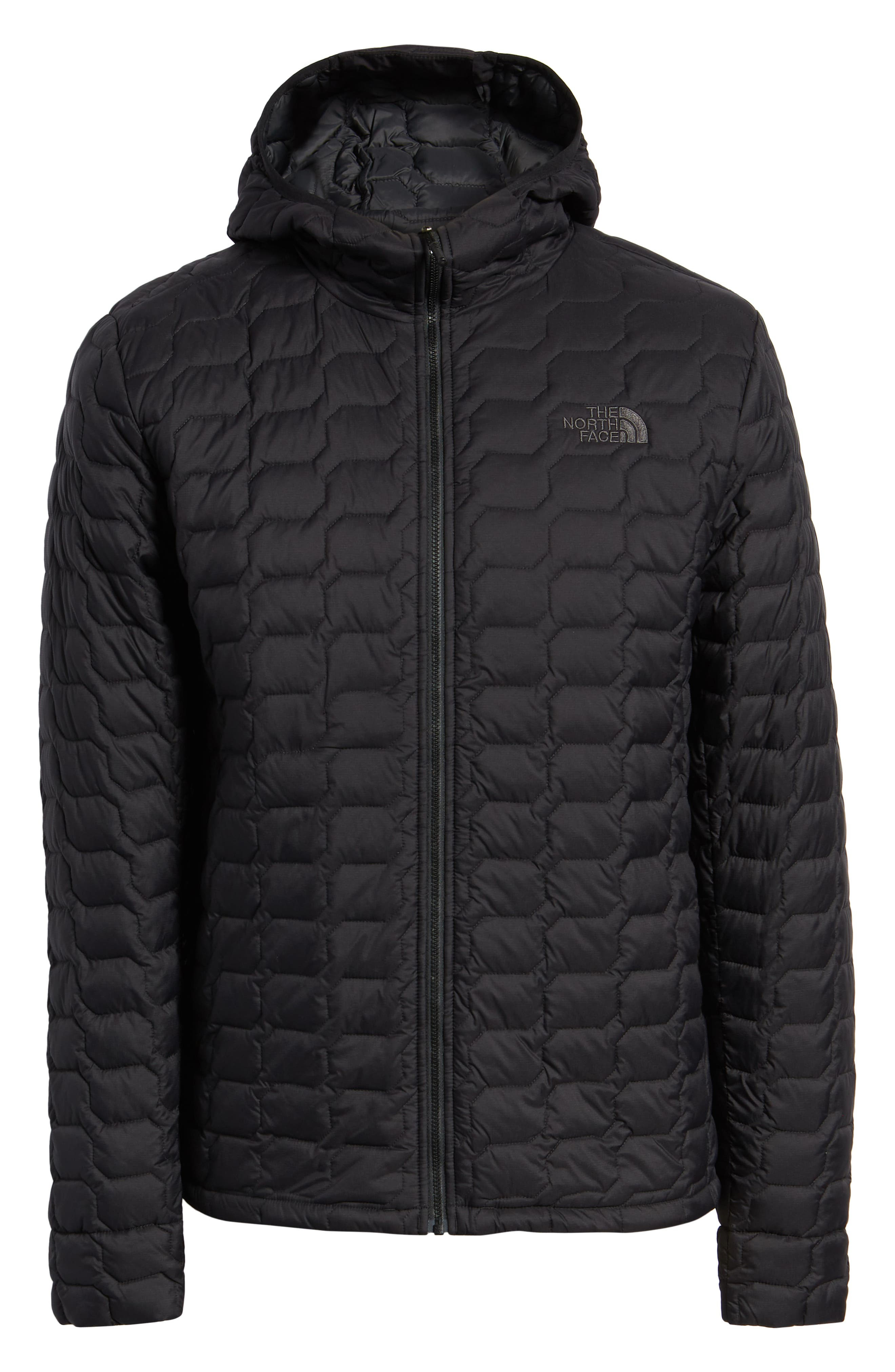 THE NORTH FACE, ThermoBall<sup>™</sup> Zip Hoodie, Alternate thumbnail 6, color, 001