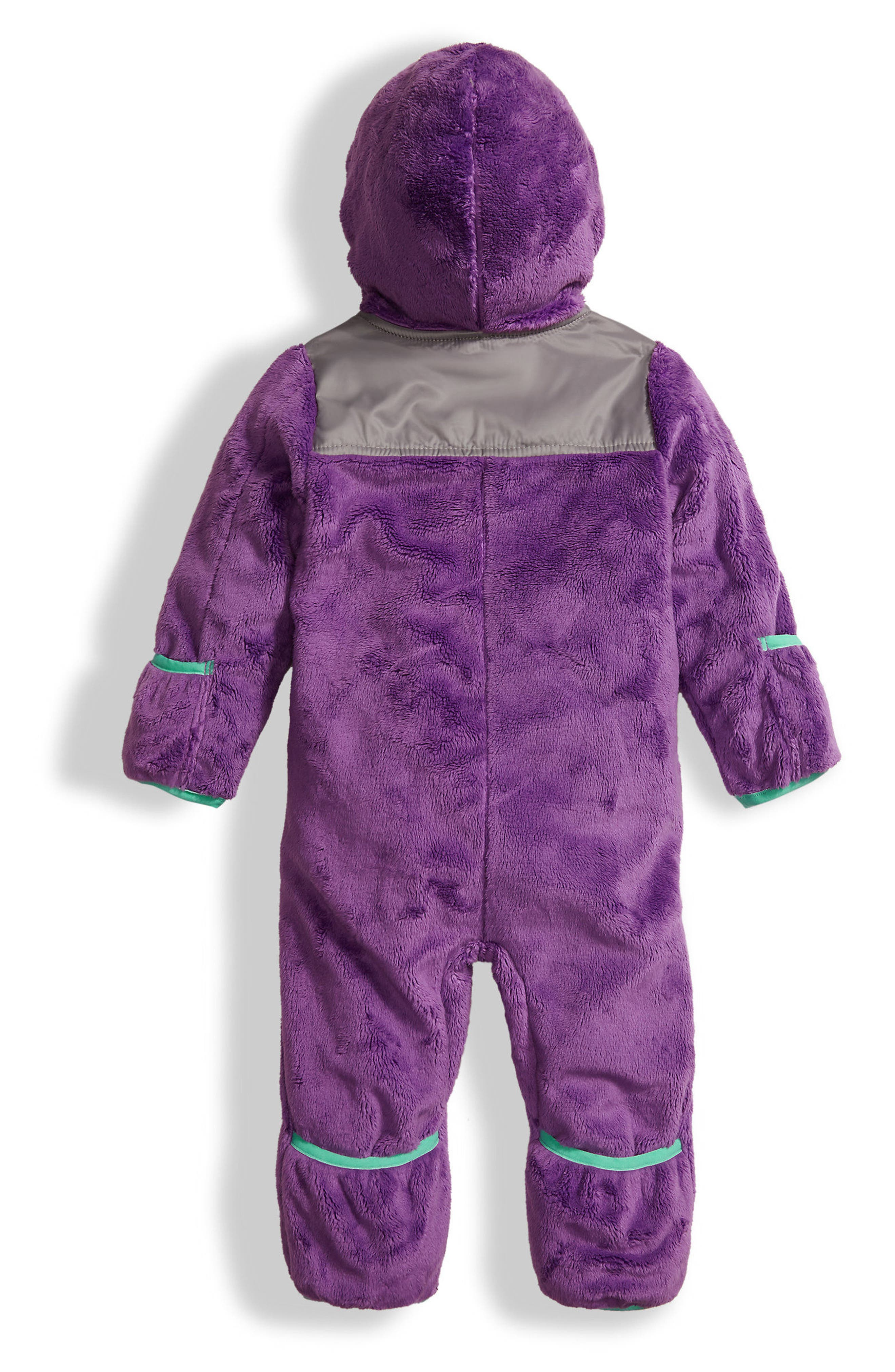 THE NORTH FACE, 'Oso' Hooded Fleece Romper, Alternate thumbnail 2, color, 511