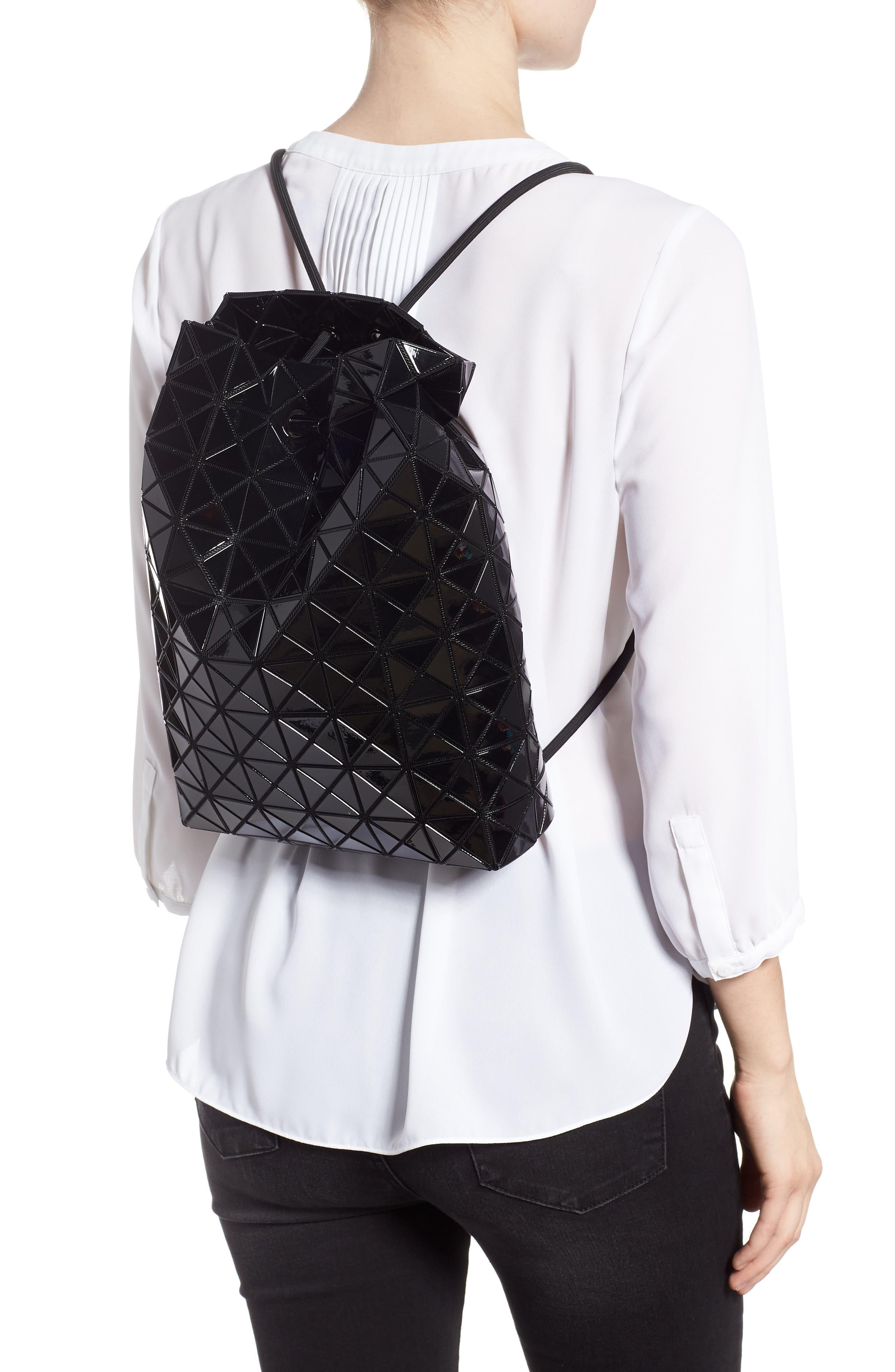 BAO BAO ISSEY MIYAKE, Wring Flat Backpack, Alternate thumbnail 2, color, BLACK