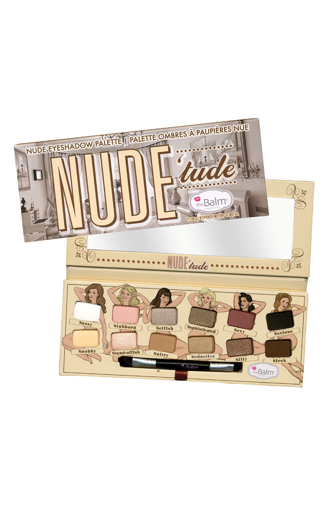 THEBALM<SUP>®</SUP>, 'Nude'tude<sup>®</sup> - Naughty' Eyeshadow Palette, Main thumbnail 1, color, 250