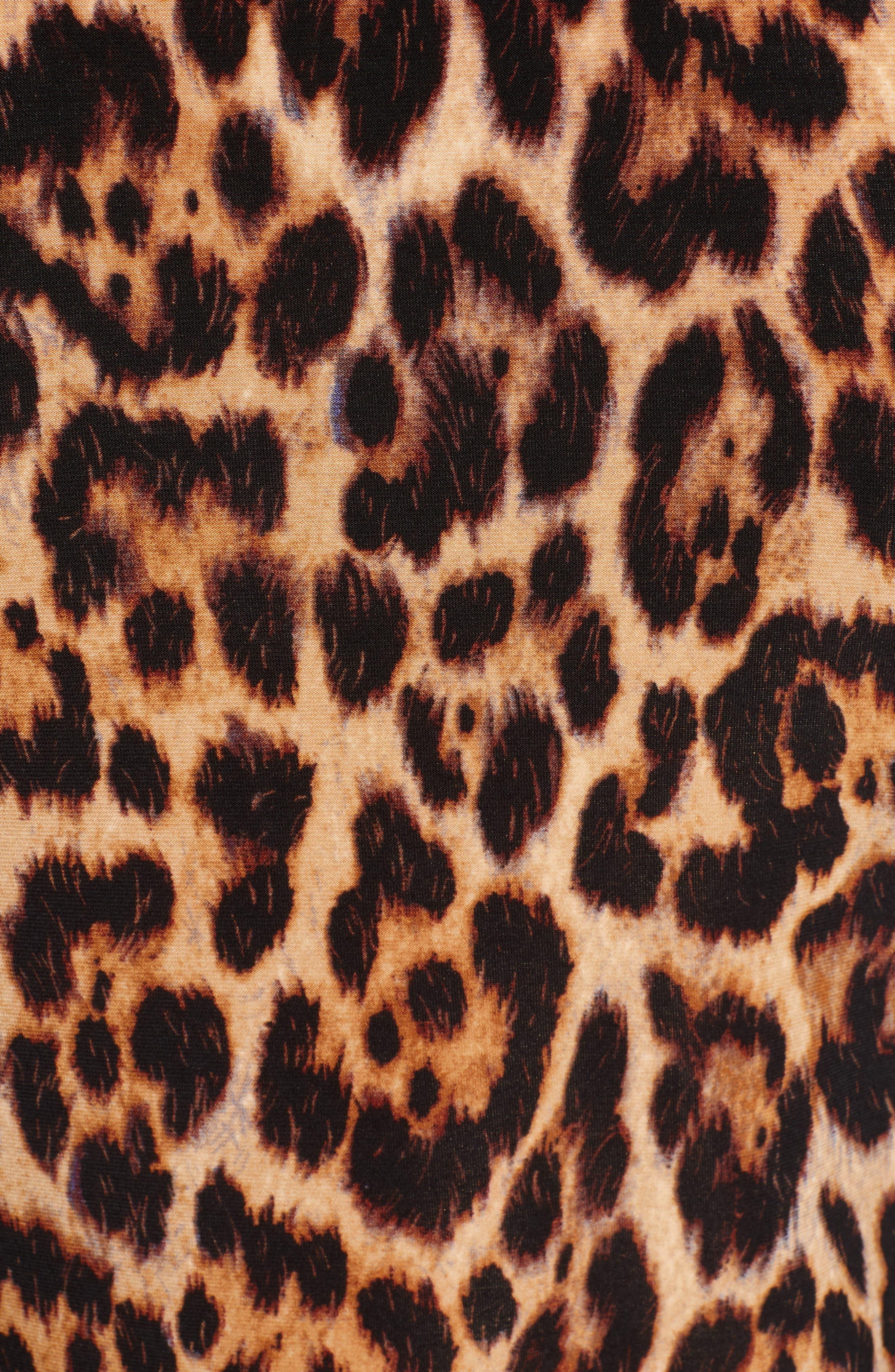 ANNE KLEIN, Animal Print Sleeveless Top, Alternate thumbnail 5, color, SIENA COMBO