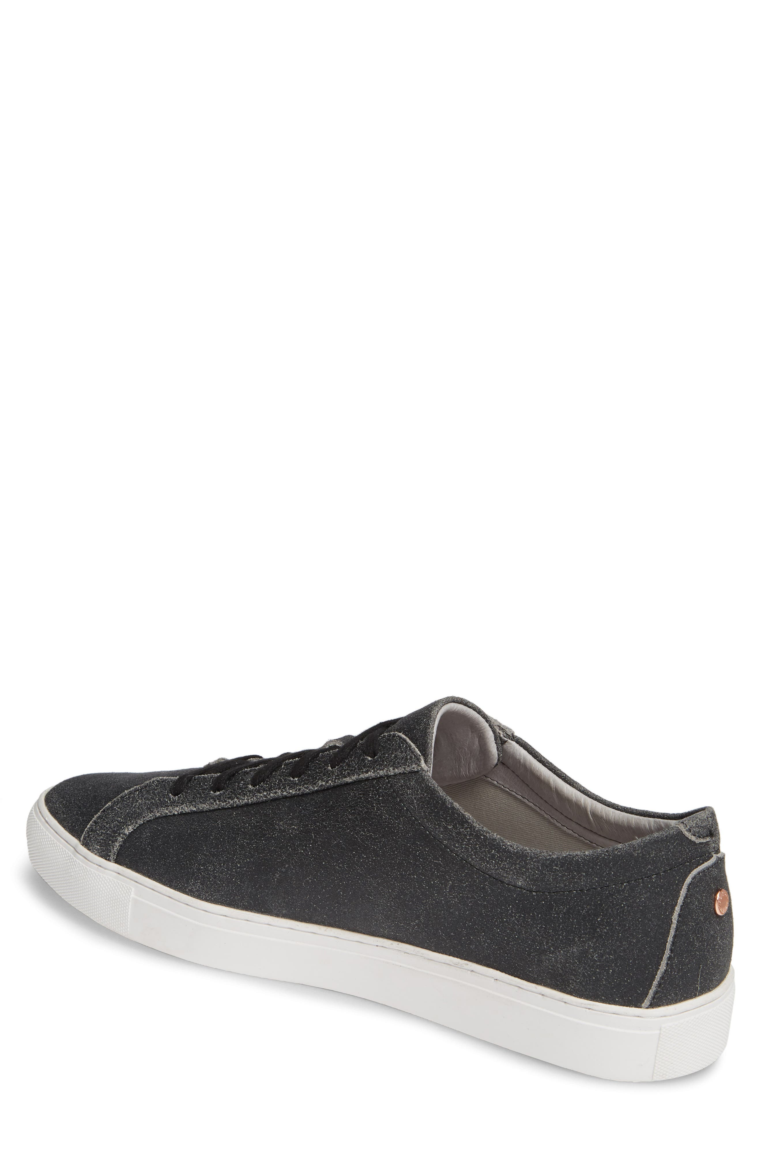 TCG, Kennedy Low Top Sneaker, Alternate thumbnail 2, color, CRACKED BLACK LEATHER