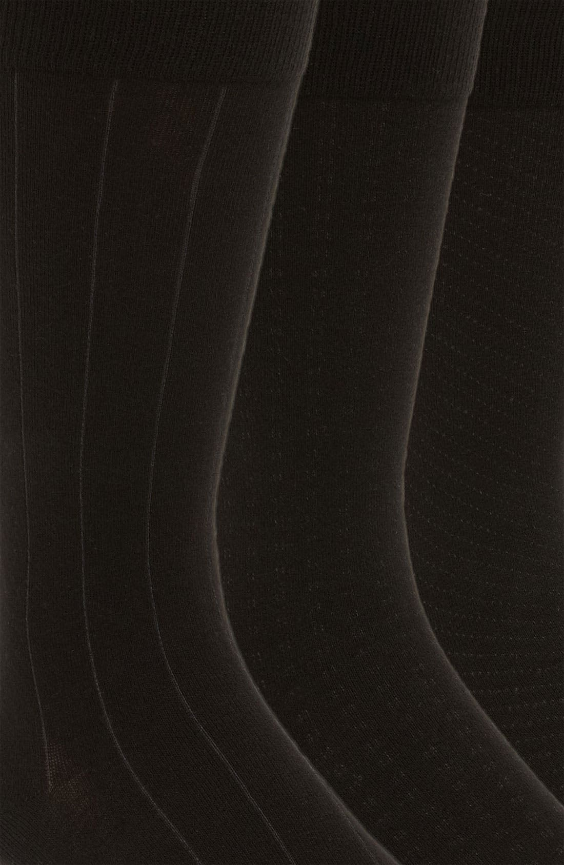 POLO RALPH LAUREN, Dress Socks, Alternate thumbnail 2, color, BLACK