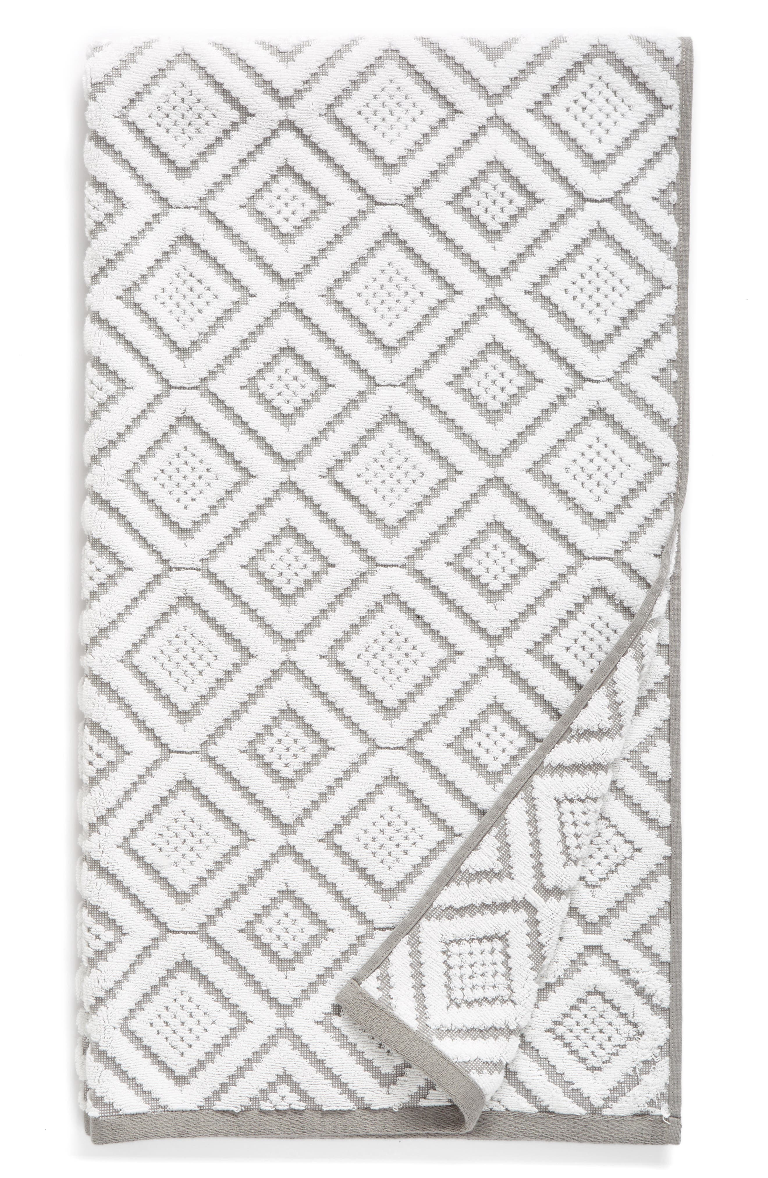 NORDSTROM AT HOME, Diamond Bath Towel, Main thumbnail 1, color, 020