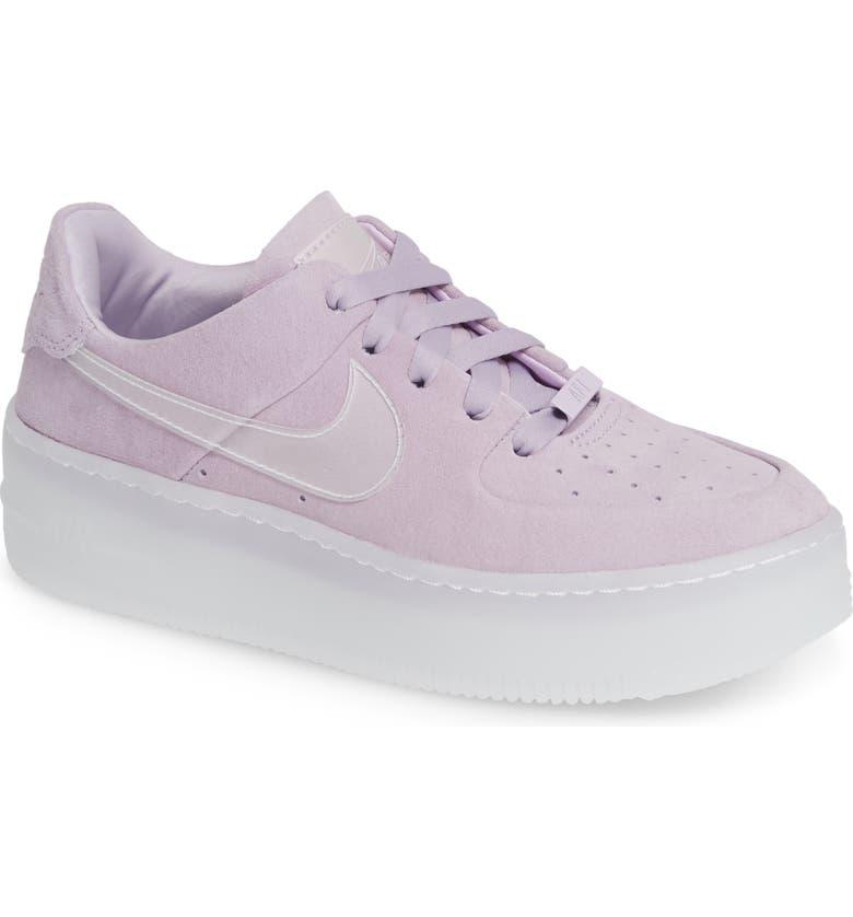 separation shoes 82130 fae46 NIKE Air Force 1 Sage Low Platform Sneaker, Main, color, VIOLET MIST