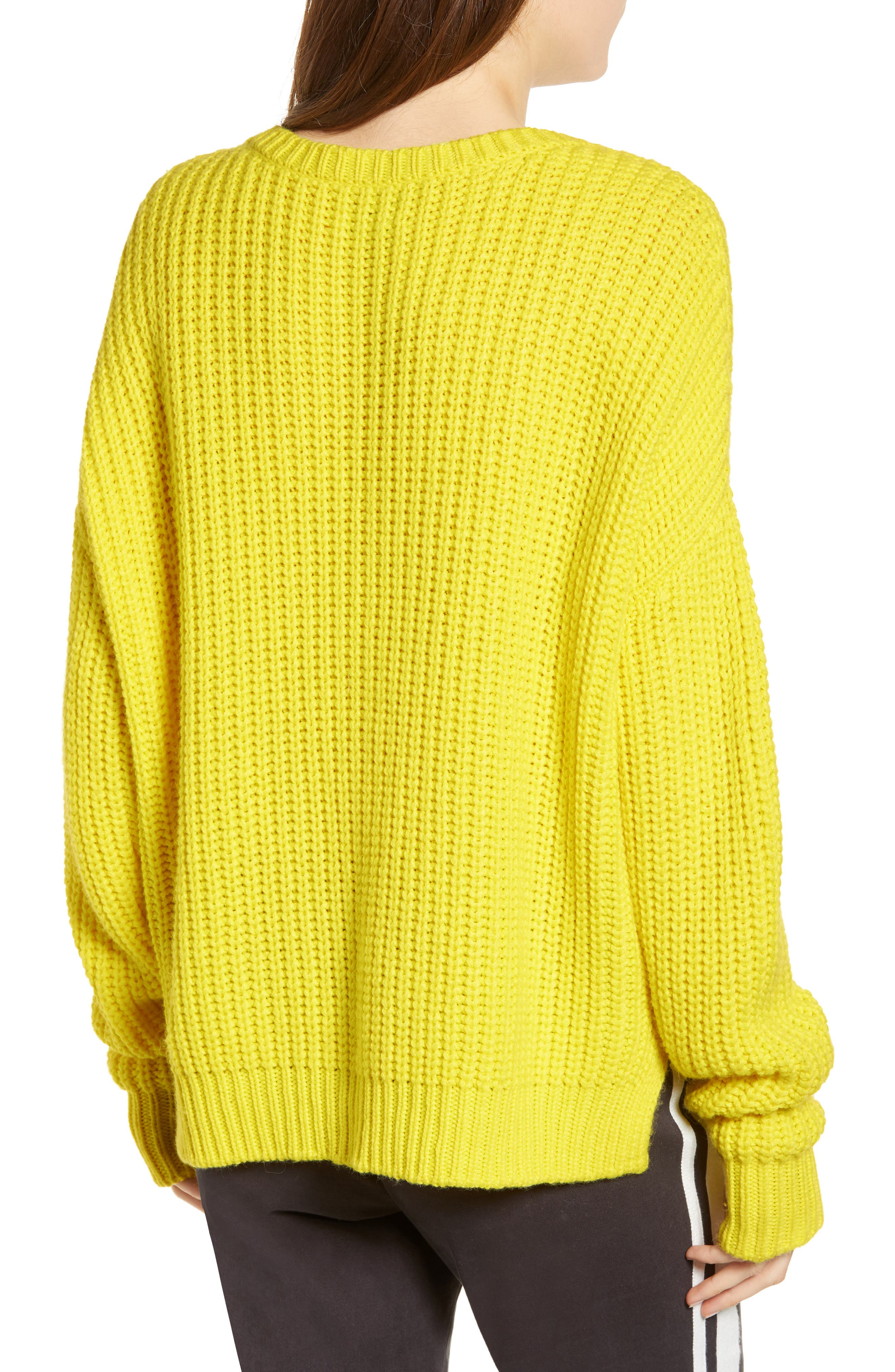 PAM & GELA, High/Low Sweater, Alternate thumbnail 2, color, 729