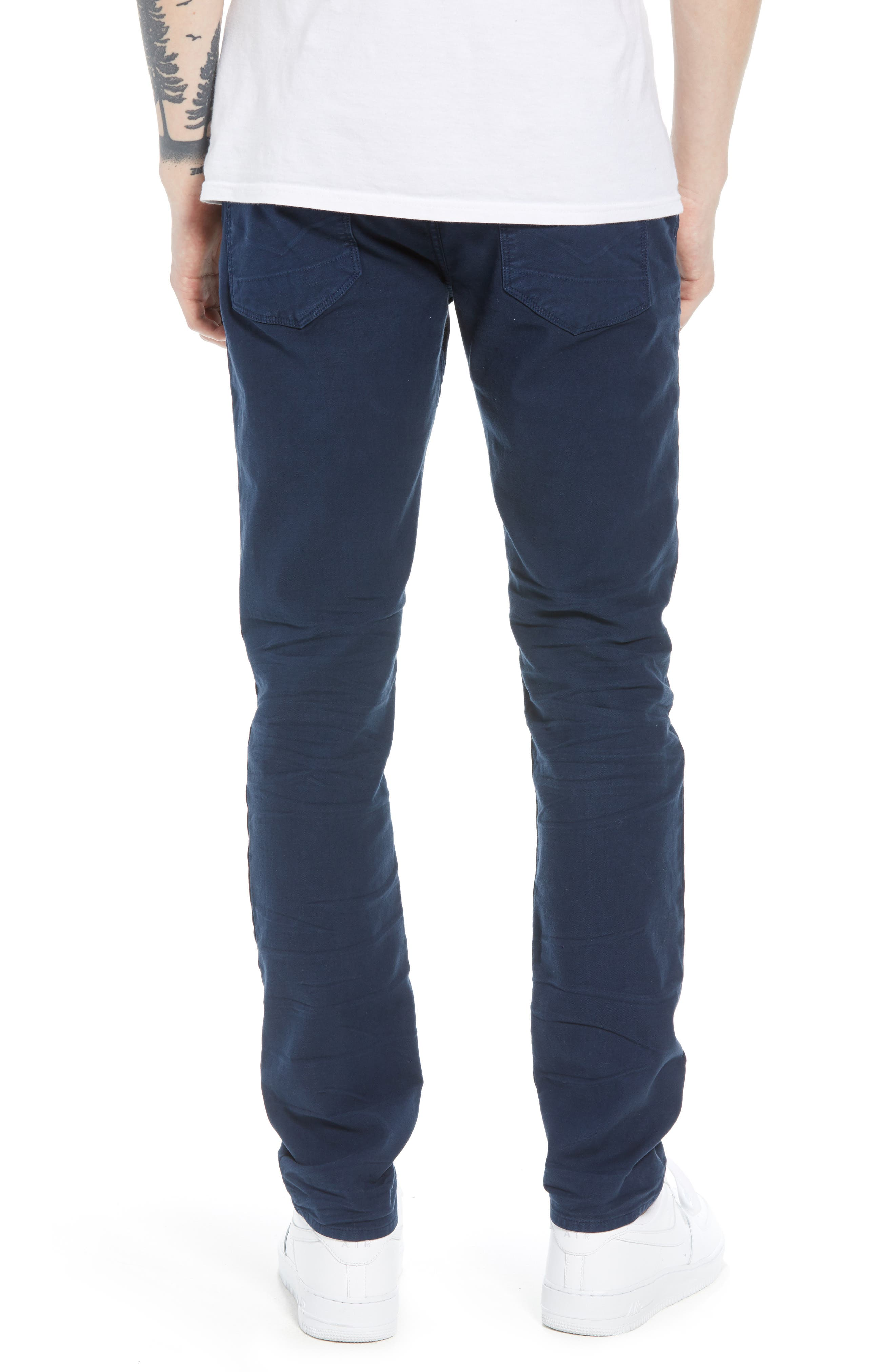 HUDSON JEANS, Axl Skinny Fit Jeans, Alternate thumbnail 2, color, SAILOR BLUE