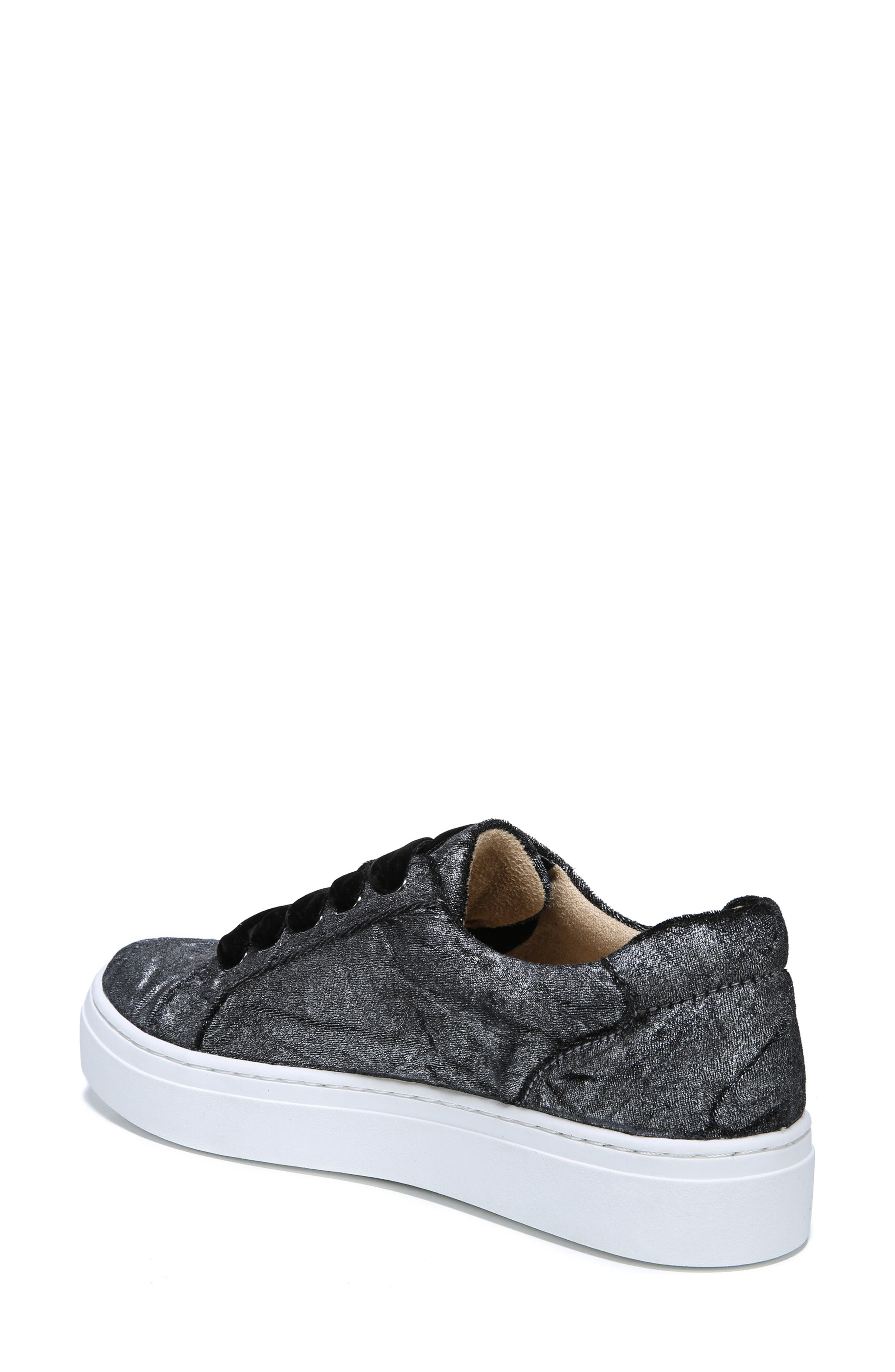 NATURALIZER, Cairo Sneaker, Alternate thumbnail 2, color, PEWTER VELVET