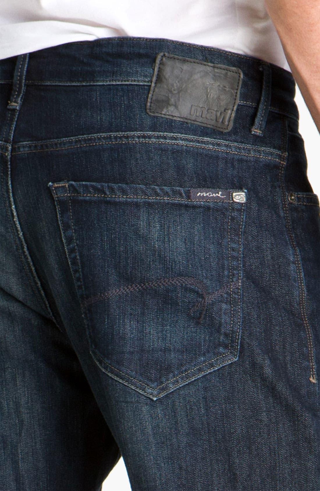 MAVI JEANS, 'Matt' Relaxed Fit Jeans, Alternate thumbnail 8, color, DEEP STANFORD COMFORT