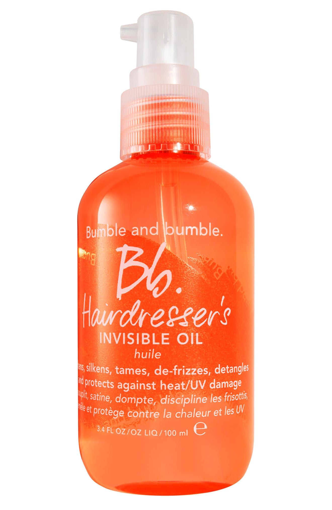 BUMBLE AND BUMBLE. Bumble and bumble Hairdresser's Invisible Oil, Main, color, NO COLOR