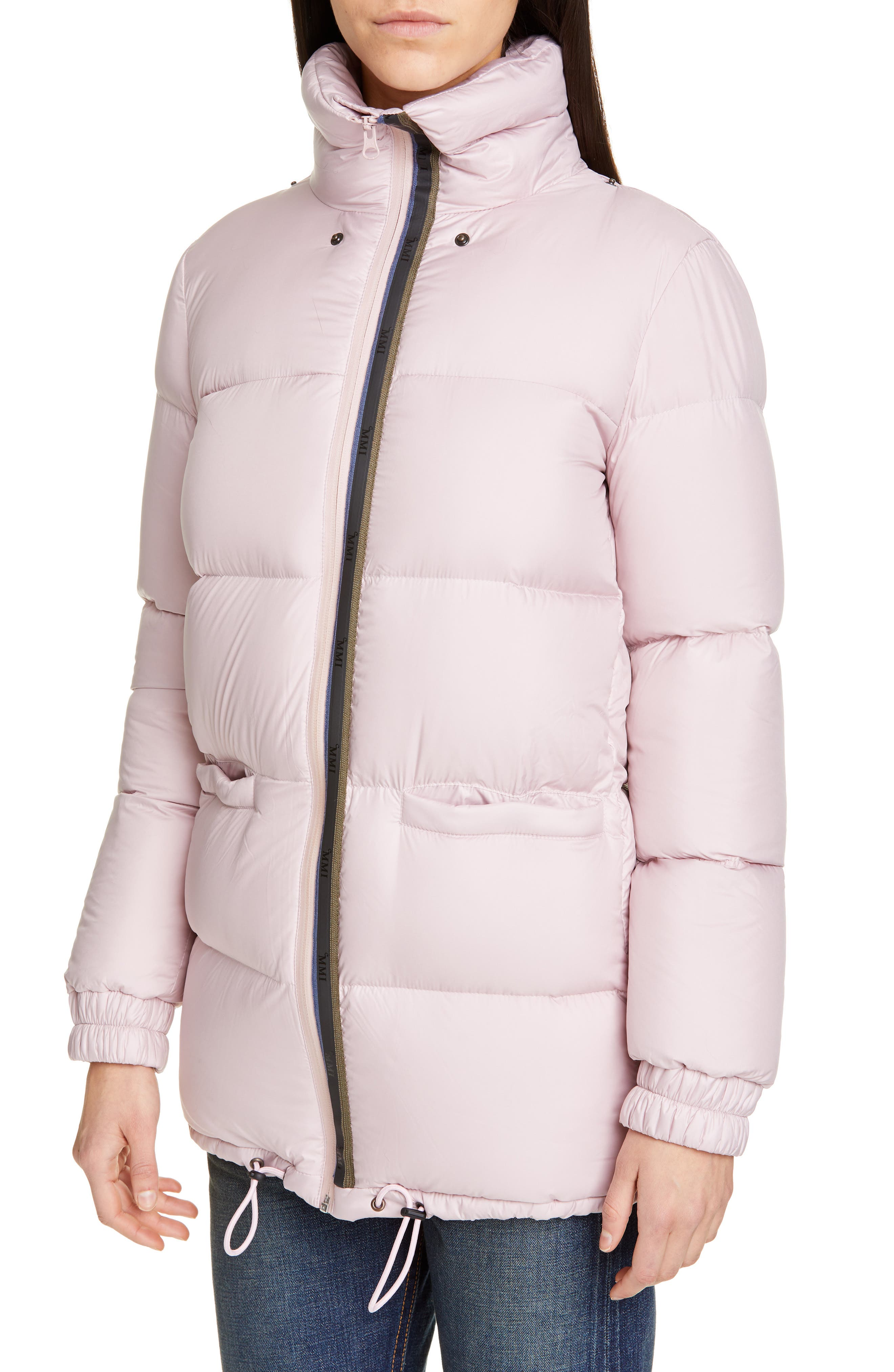 MR & MRS ITALY, Genuine Fox Fur Trim Quilted Down Puffer Coat, Alternate thumbnail 2, color, PINK