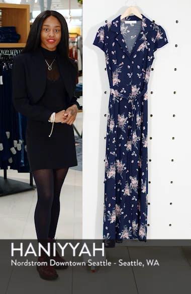 Floral Print Maxi Dress, sales video thumbnail