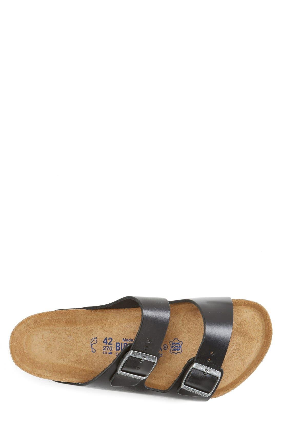 BIRKENSTOCK, 'Arizona Soft' Sandal, Alternate thumbnail 3, color, BLACK