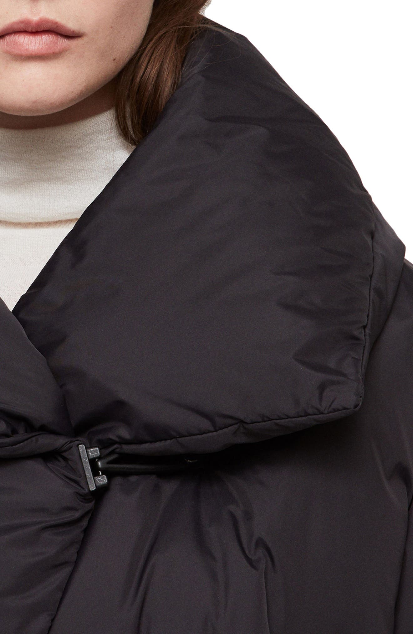 ALLSAINTS, Vrai Avia Puffer Jacket, Alternate thumbnail 3, color, 001