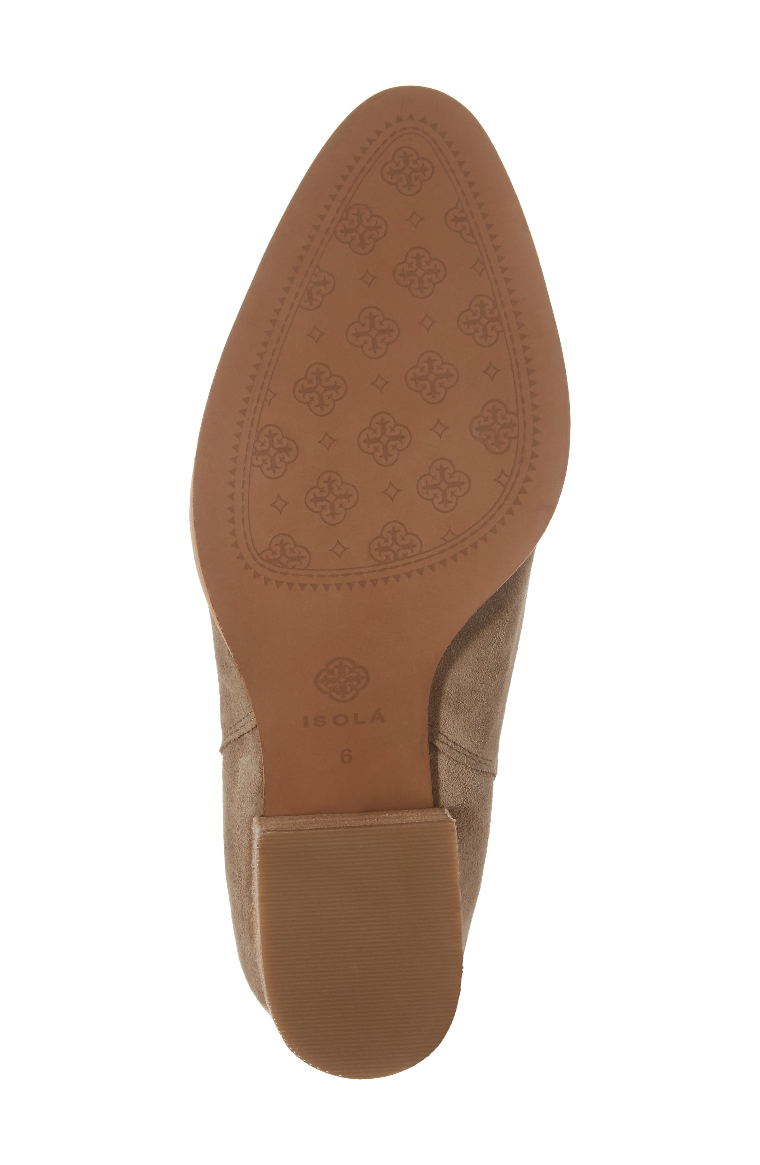 ISOLÁ, Olicia Gored Bootie, Alternate thumbnail 6, color, MARMOTTA LIGHT GREY SUEDE