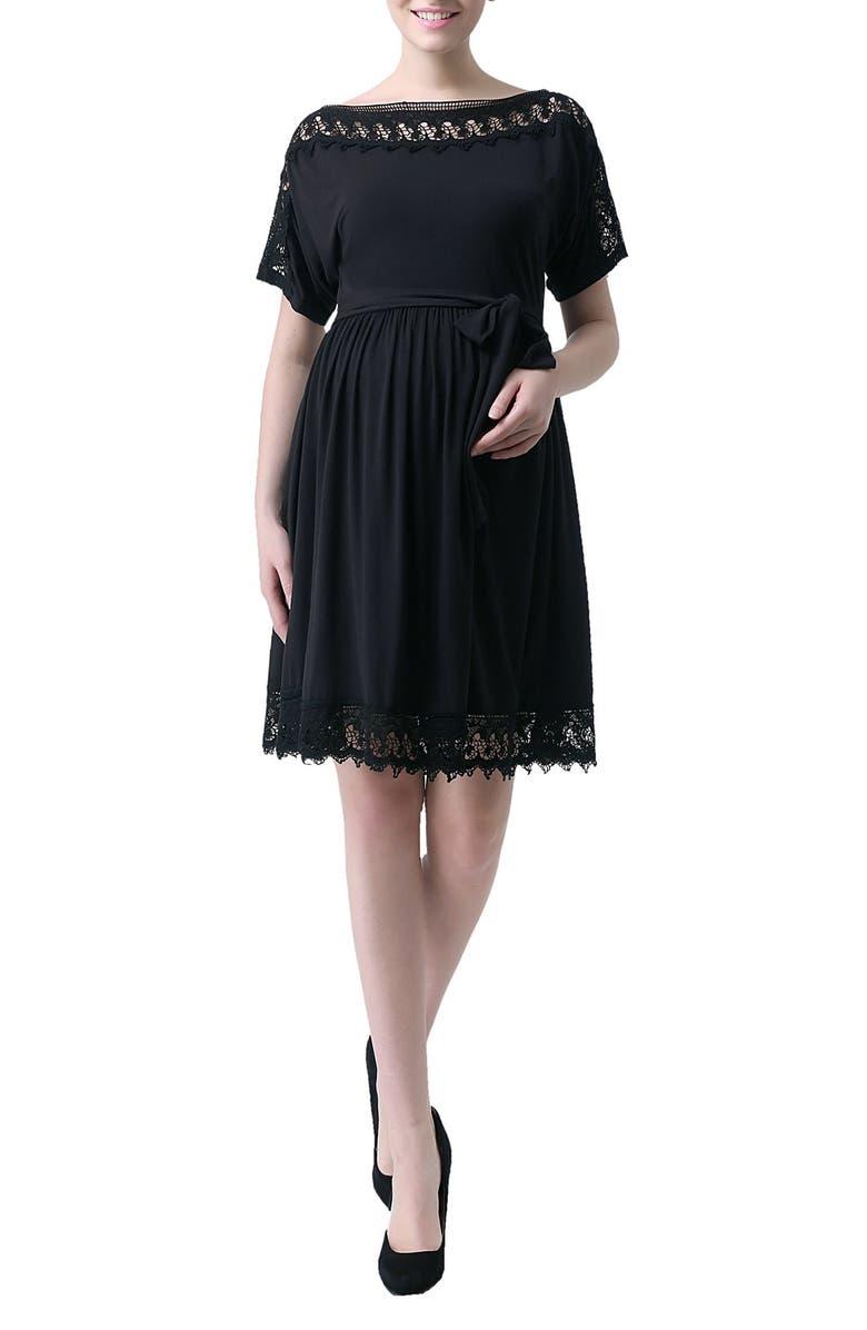 Kimi And Kai Elsie Crochet Trim Maternity Dress Nordstrom
