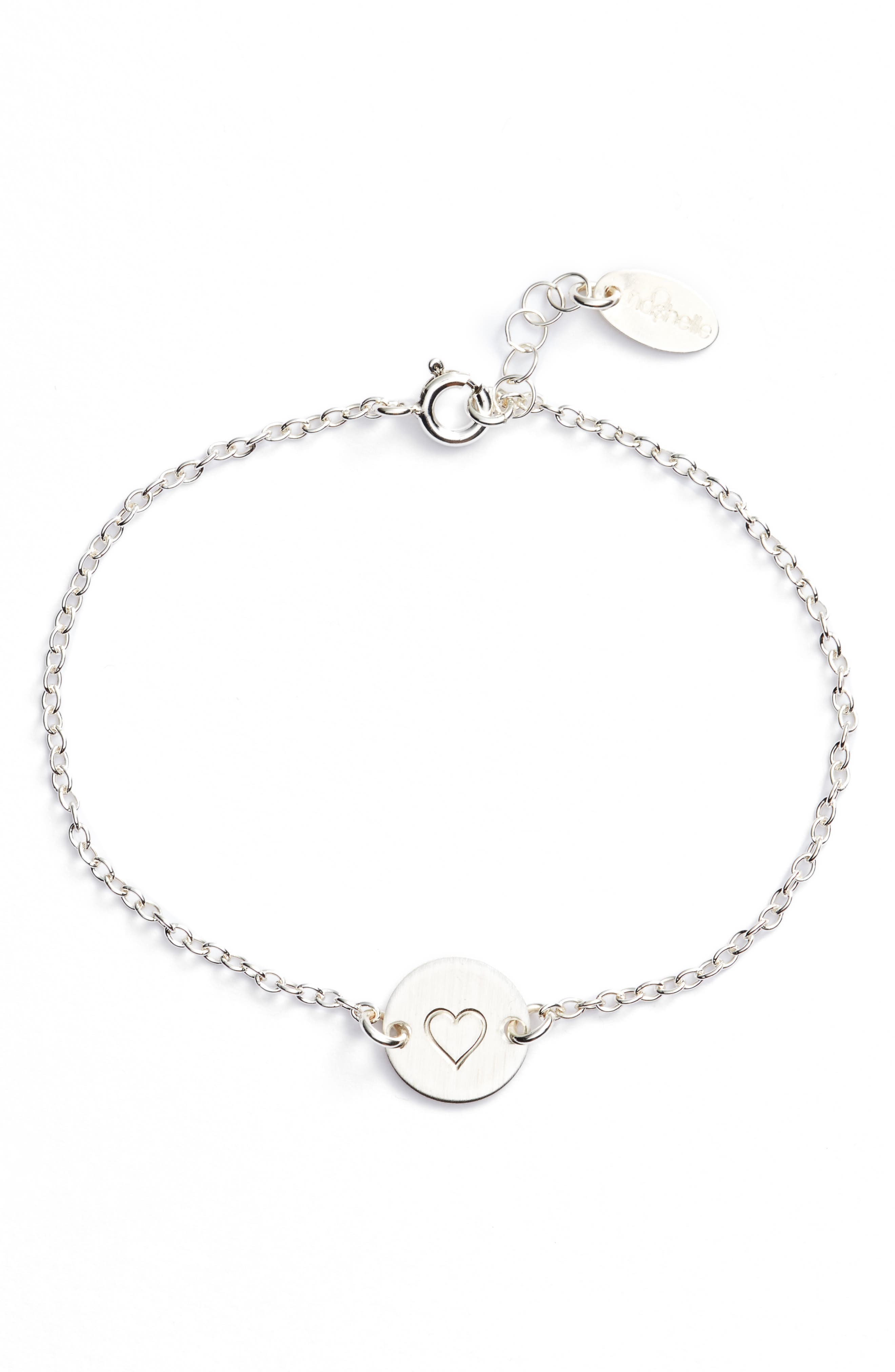 NASHELLE, Mini Coin Bracelet, Main thumbnail 1, color, SILVER