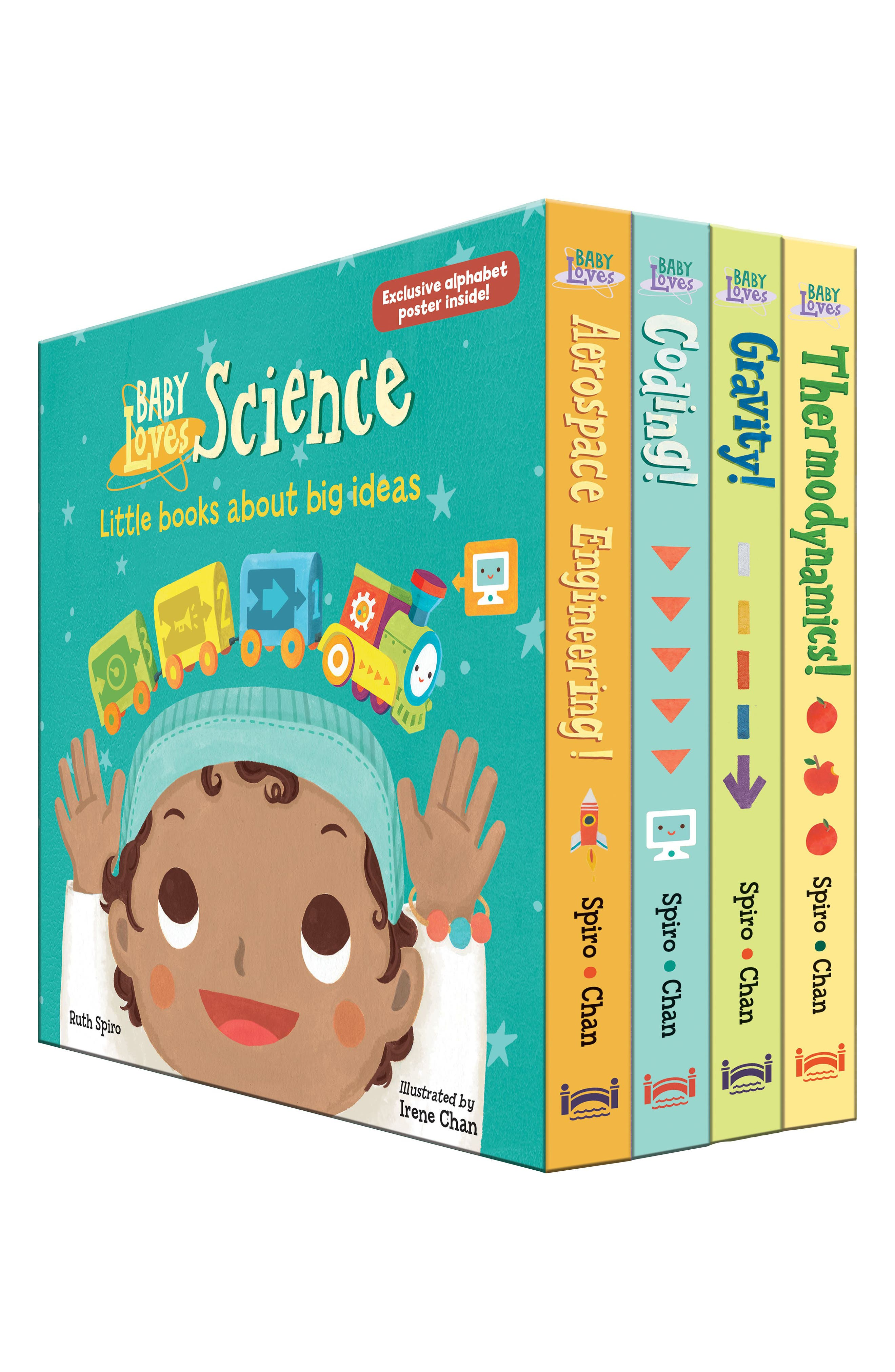 PENGUIN RANDOM HOUSE, 'Baby Loves Science' Board Book Box Set, Main thumbnail 1, color, MISCELLANEOUS