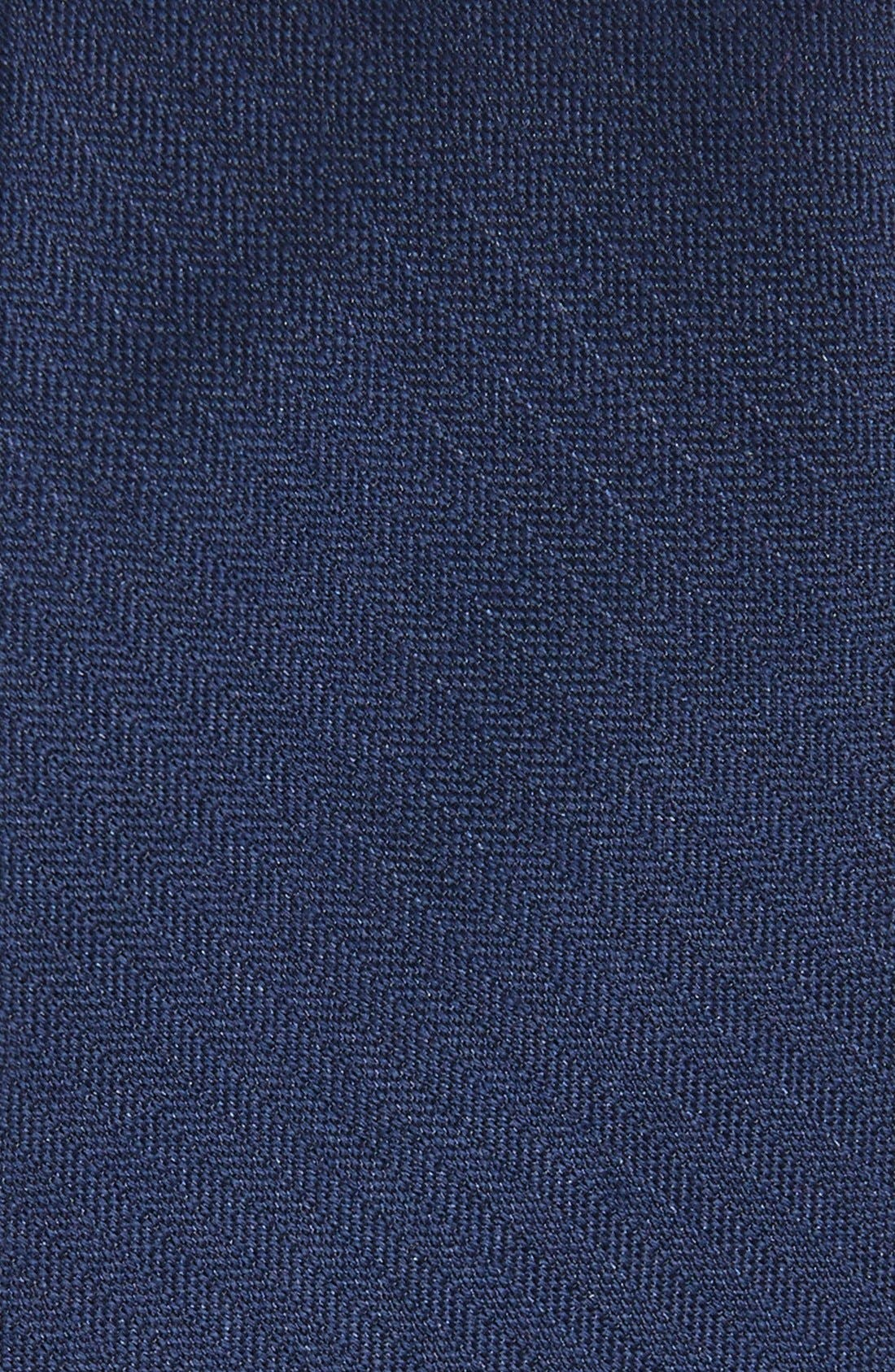 THE TIE BAR, Solid Wool & Silk Tie, Alternate thumbnail 2, color, NAVY