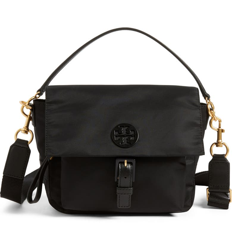 4021e8be71c081 TORY BURCH Tilda Nylon Crossbody Bag, Main, color, BLACK