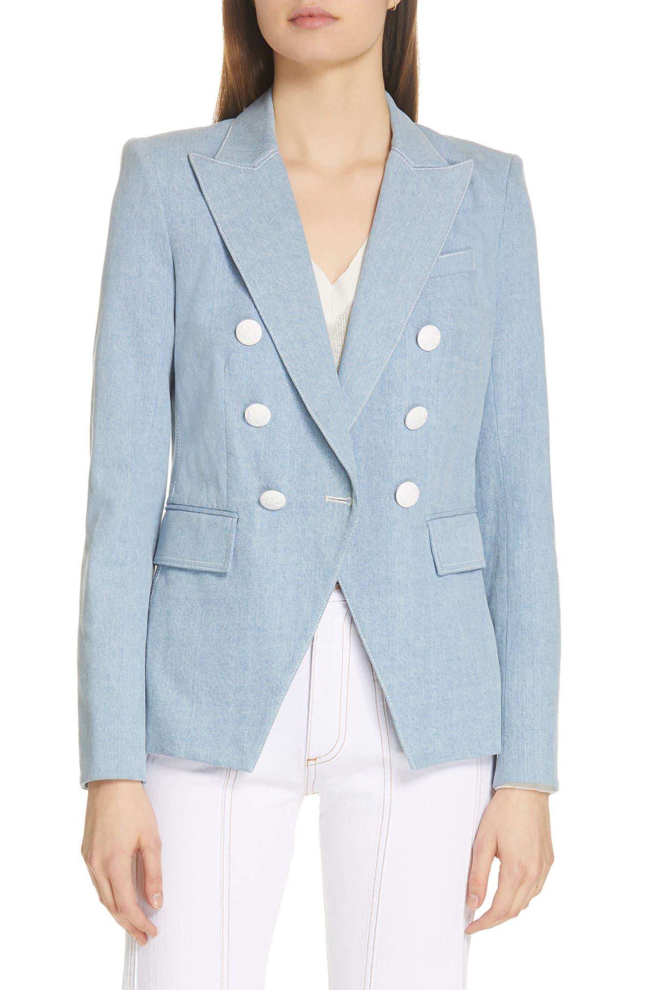 VERONICA BEARD Miller Denim Dickey Jacket, Main, color, DENIM