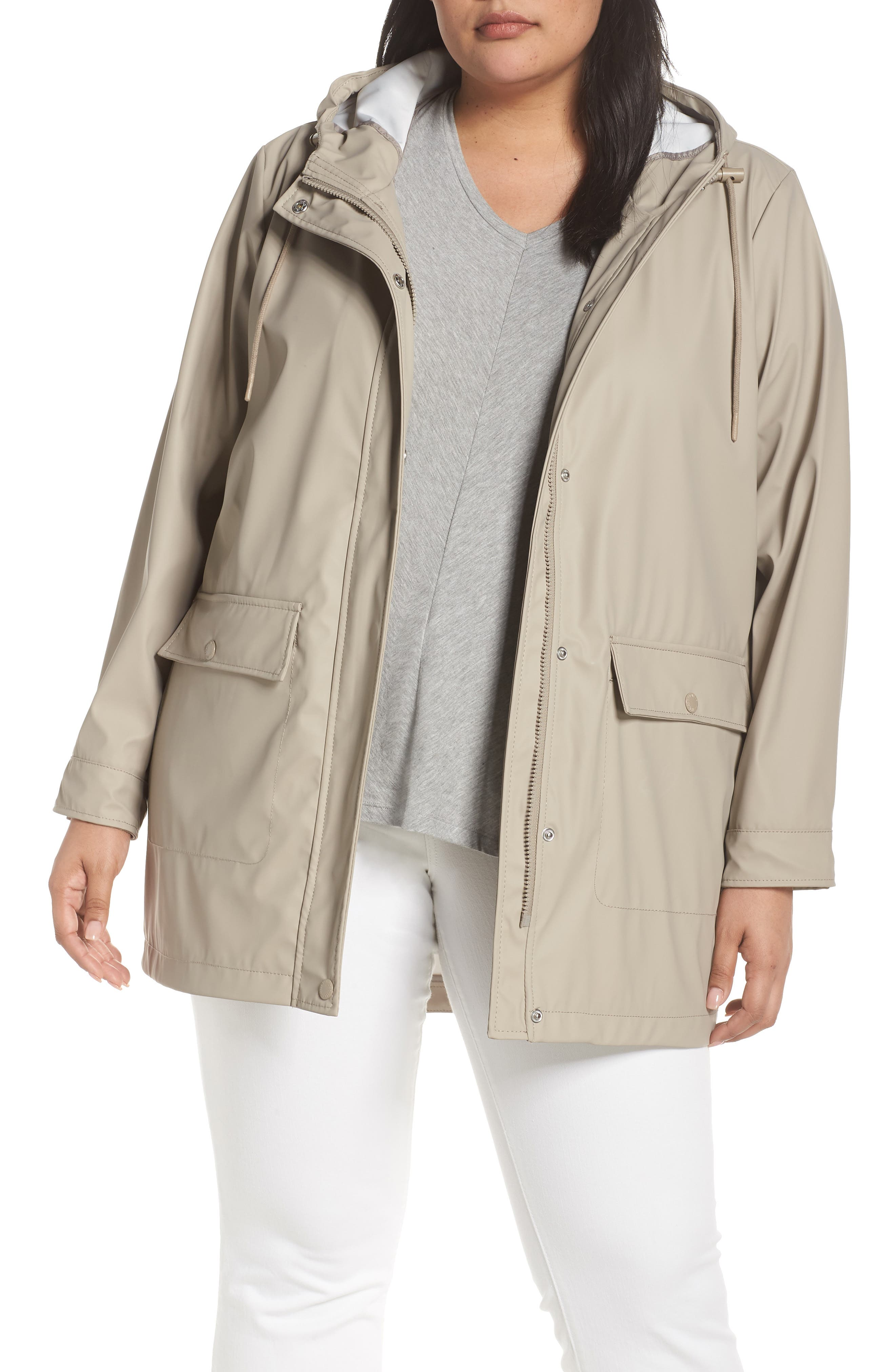 40bc1a85ef6 Plus Size Levi S Water Repellent Hooded Parka