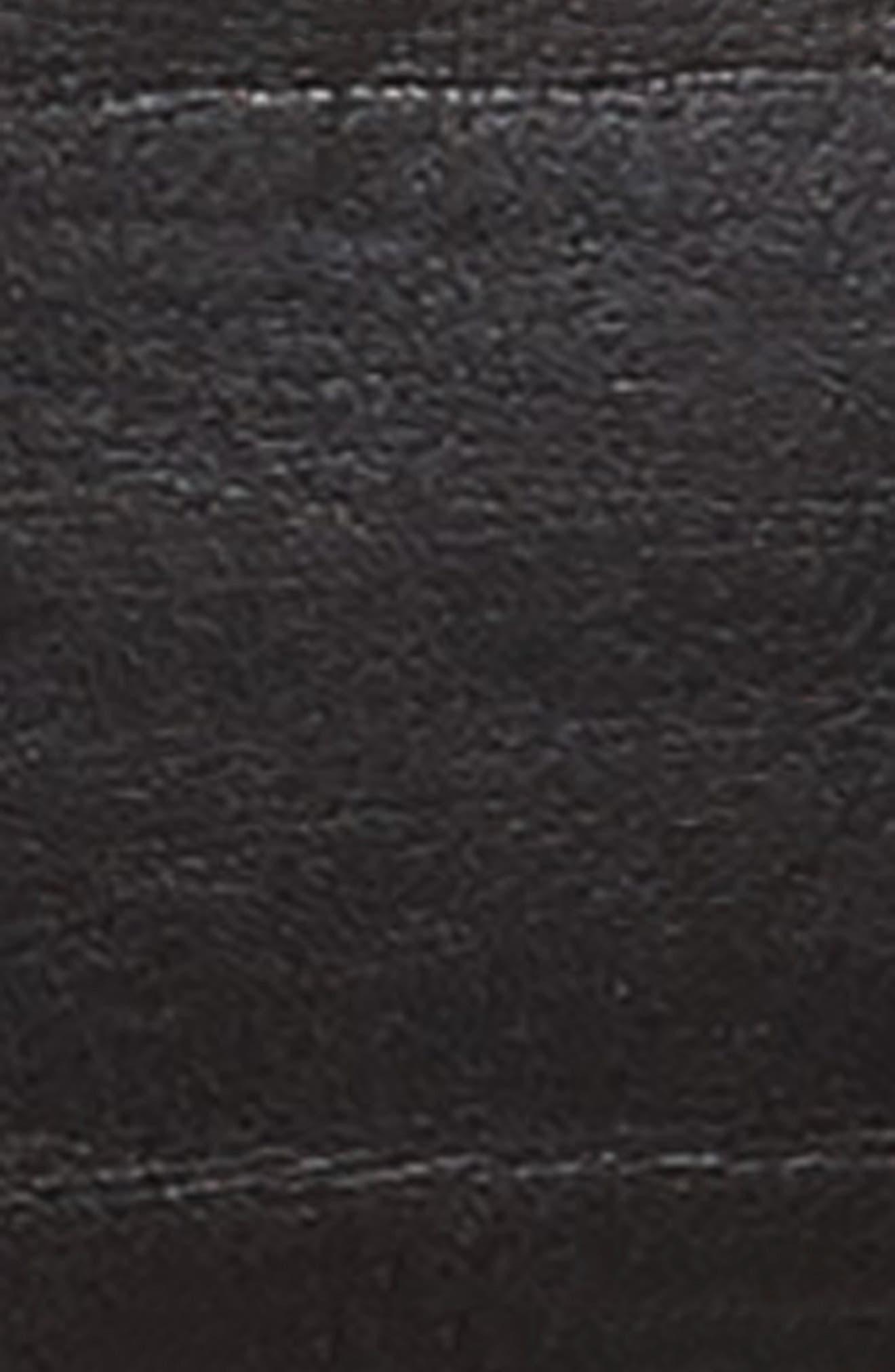 FRYE, Double Keeper Leather Belt, Alternate thumbnail 3, color, 001