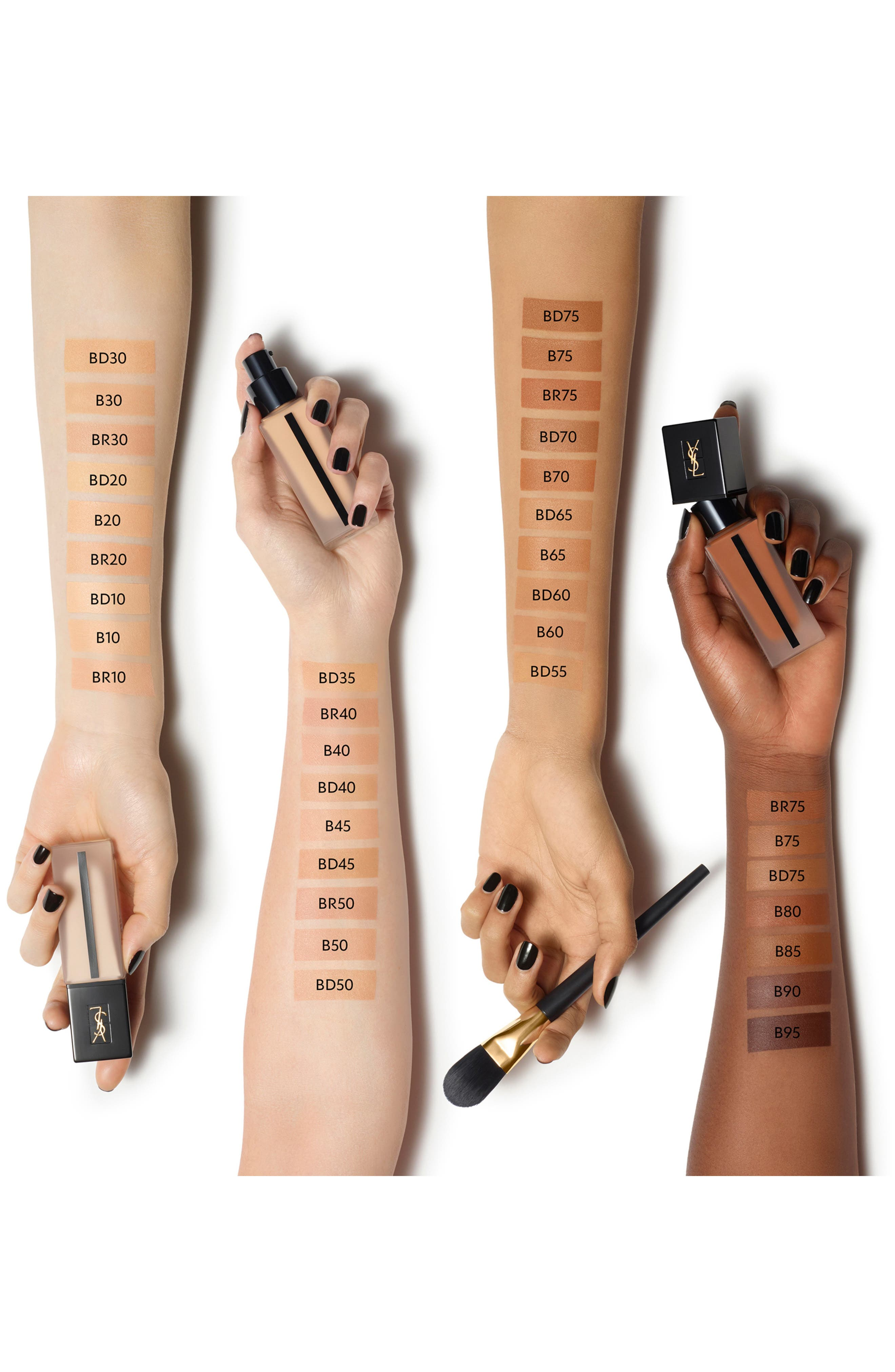 YVES SAINT LAURENT, All Hours Full Coverage Matte Foundation SPF 20, Alternate thumbnail 4, color, B60 AMBER