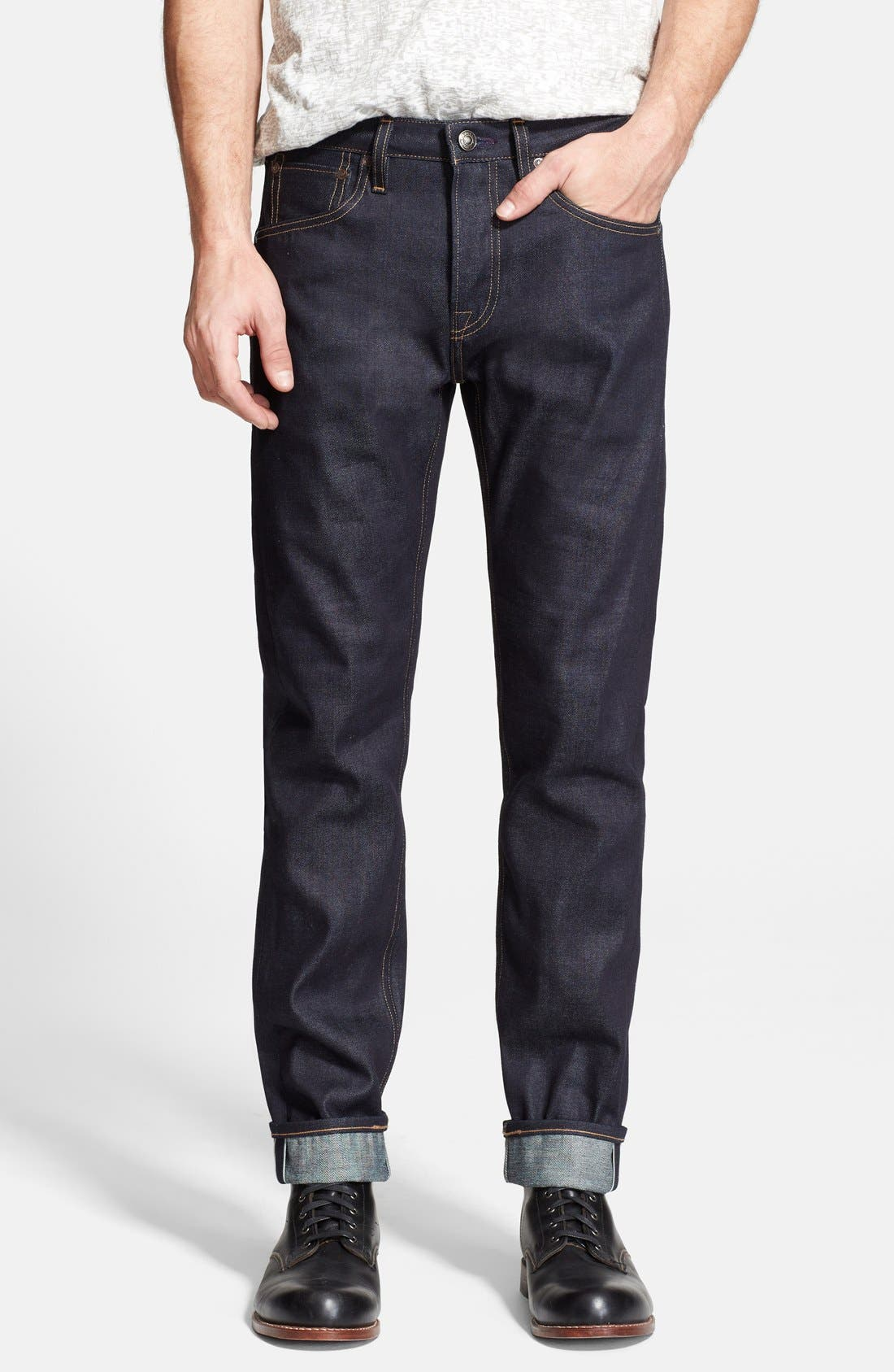 LEVI'S<SUP>®</SUP> MADE & CRAFTED<SUP>™</SUP> 'Tack' Slim Fit Jeans, Main, color, 400