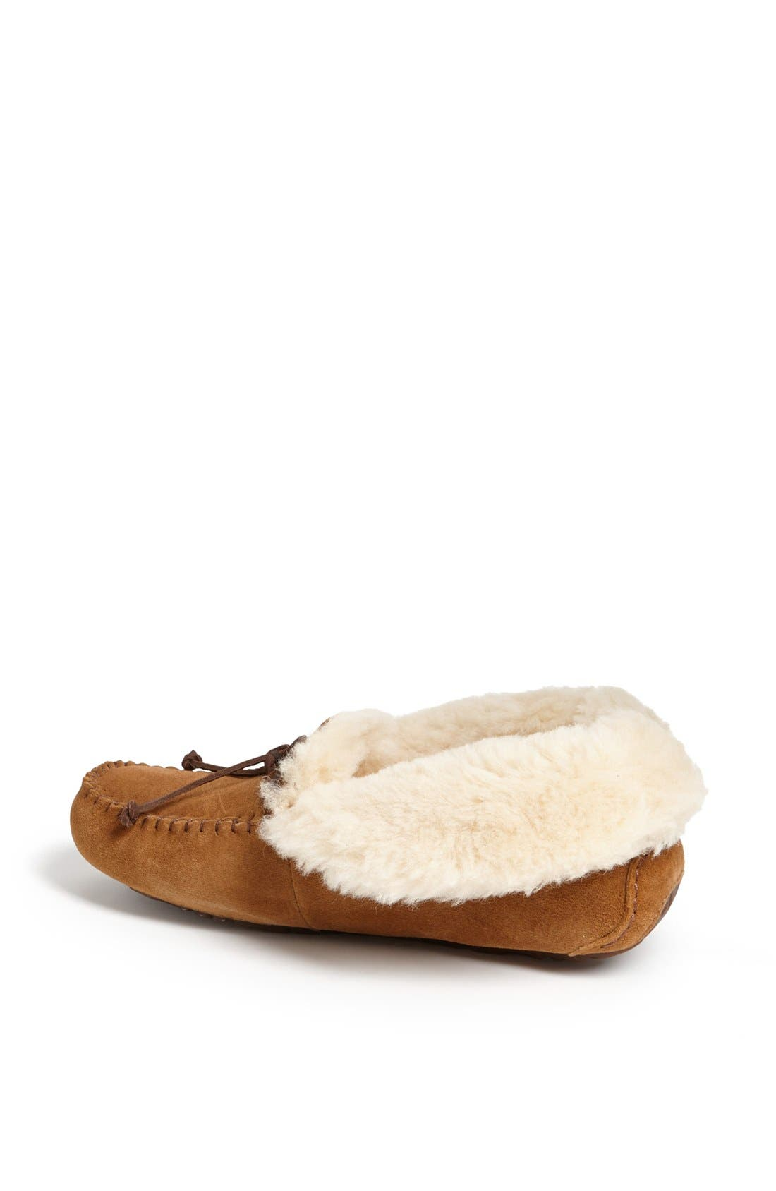 UGG<SUP>®</SUP>, UGGpure<sup>™</sup> Alena Suede Slipper Bootie, Alternate thumbnail 4, color, CHESTNUT