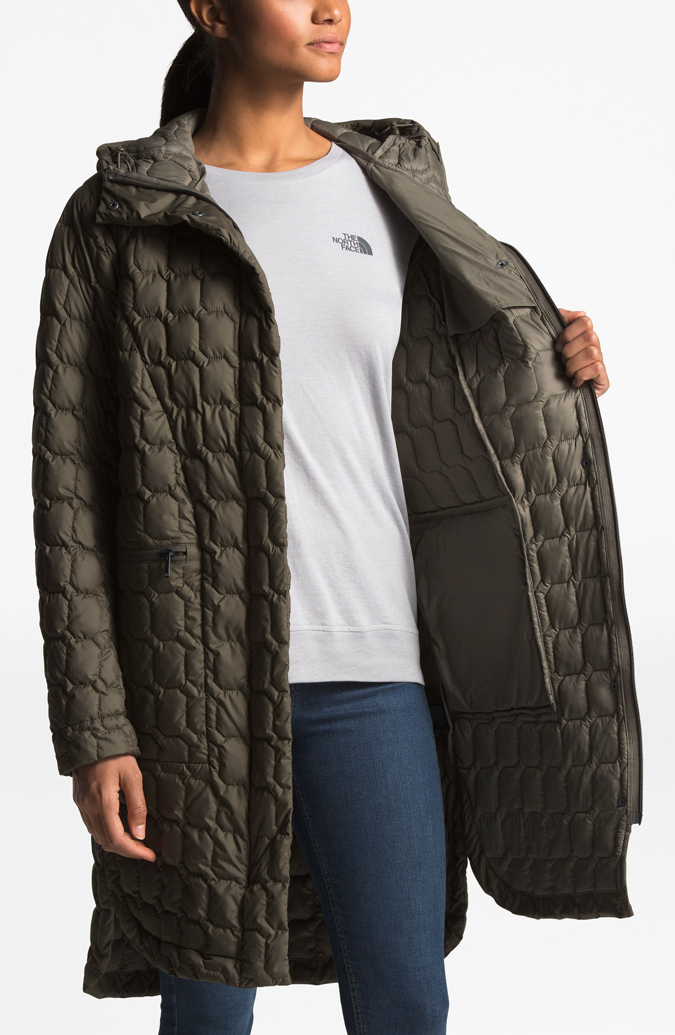 THE NORTH FACE, Thermoball<sup>™</sup> Water Resistant Duster Jacket, Alternate thumbnail 11, color, 301