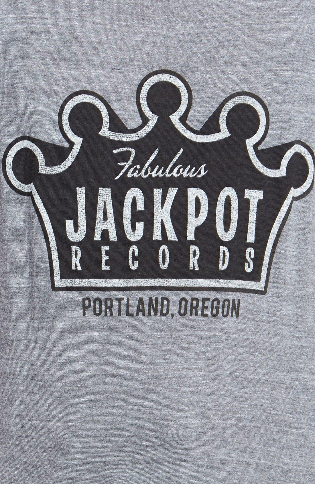HORSES CUT SHOP, 'Jackpot Records' Cotton Tee, Alternate thumbnail 3, color, 030
