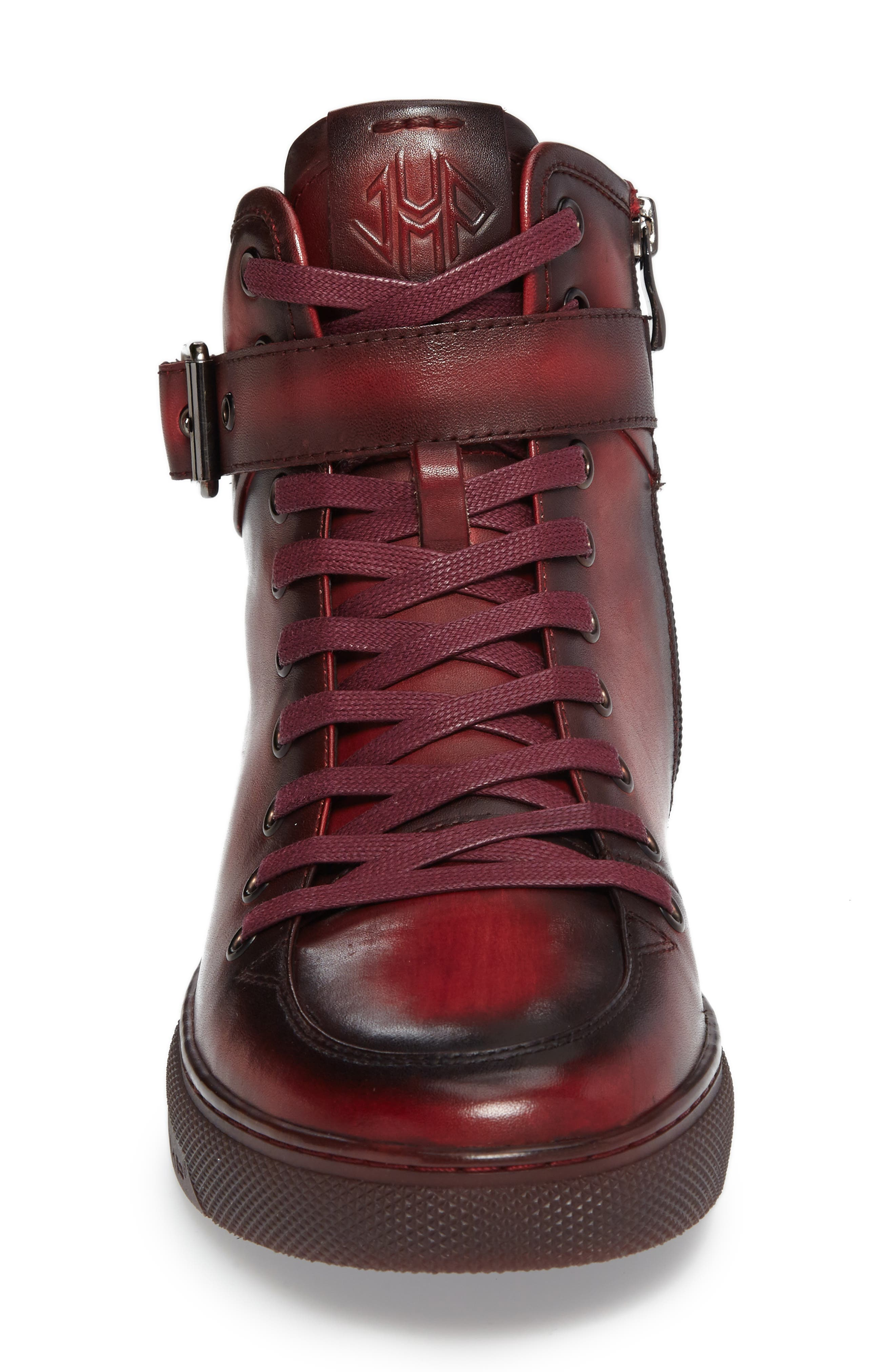 JUMP, Sullivan High Top Sneaker, Alternate thumbnail 3, color, RUBY