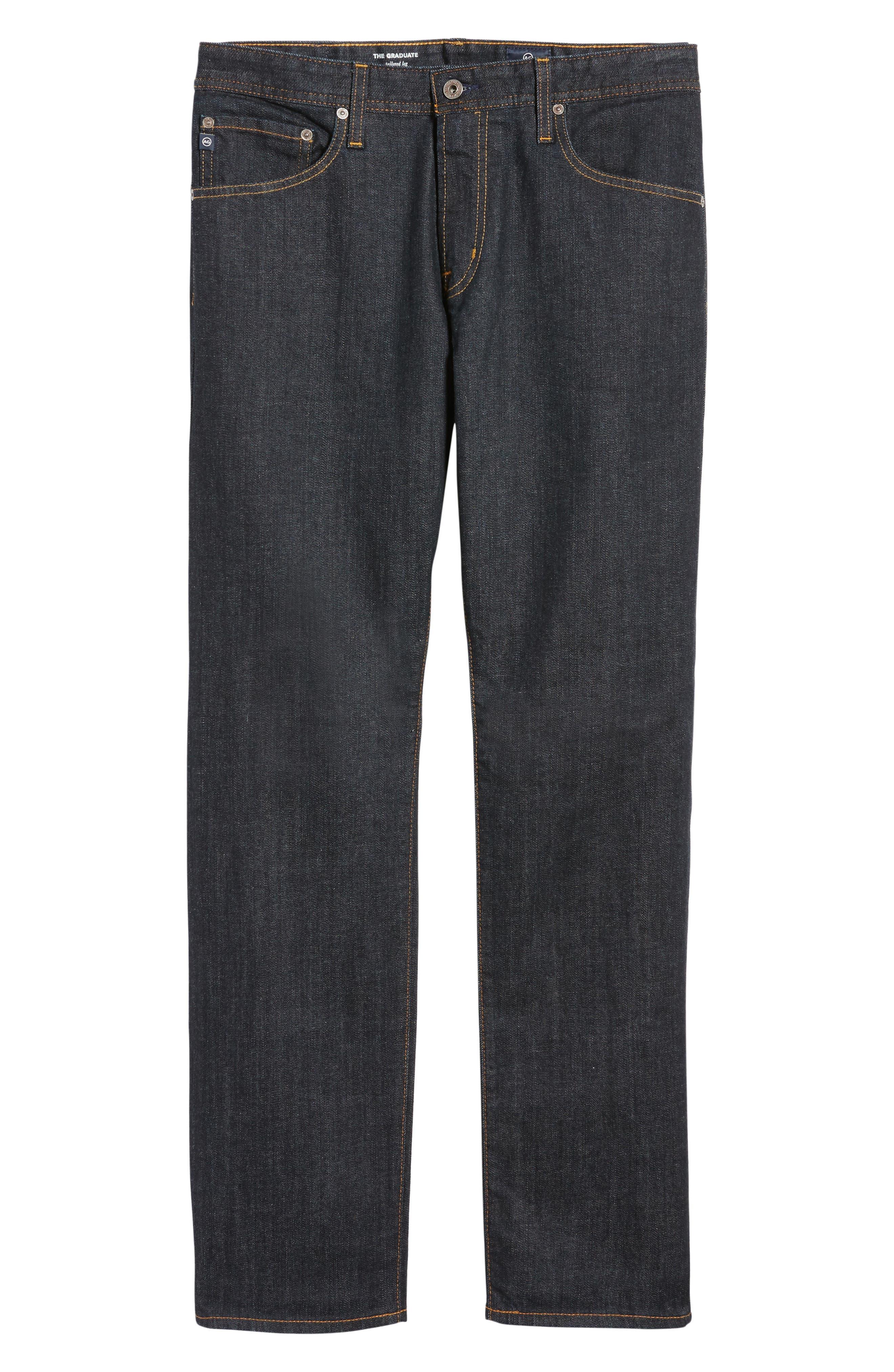 AG, 'Graduate' Slim Straight Leg Jeans, Alternate thumbnail 2, color, JACK