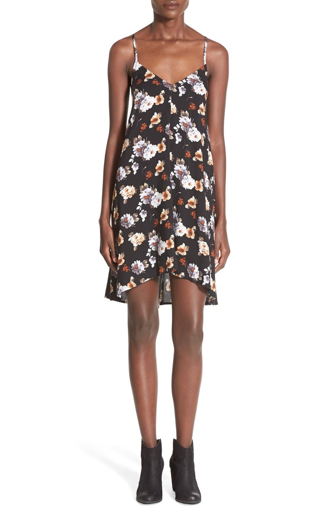 MIMI CHICA Print Slipdress, Main, color, 001