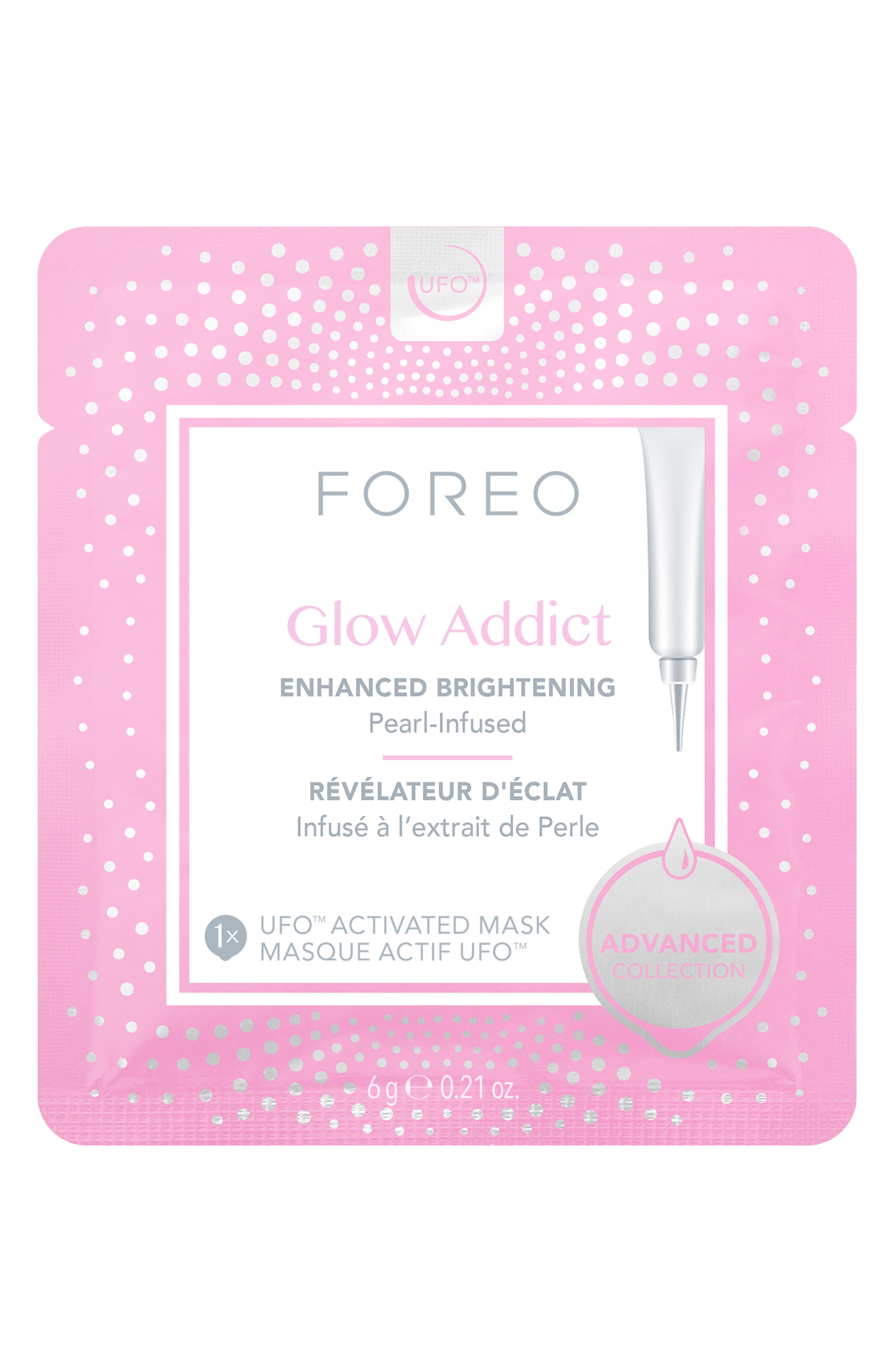 FOREO Glow Addict UFO<sup>™</sup> Activated Mask, Main, color, NO COLOR