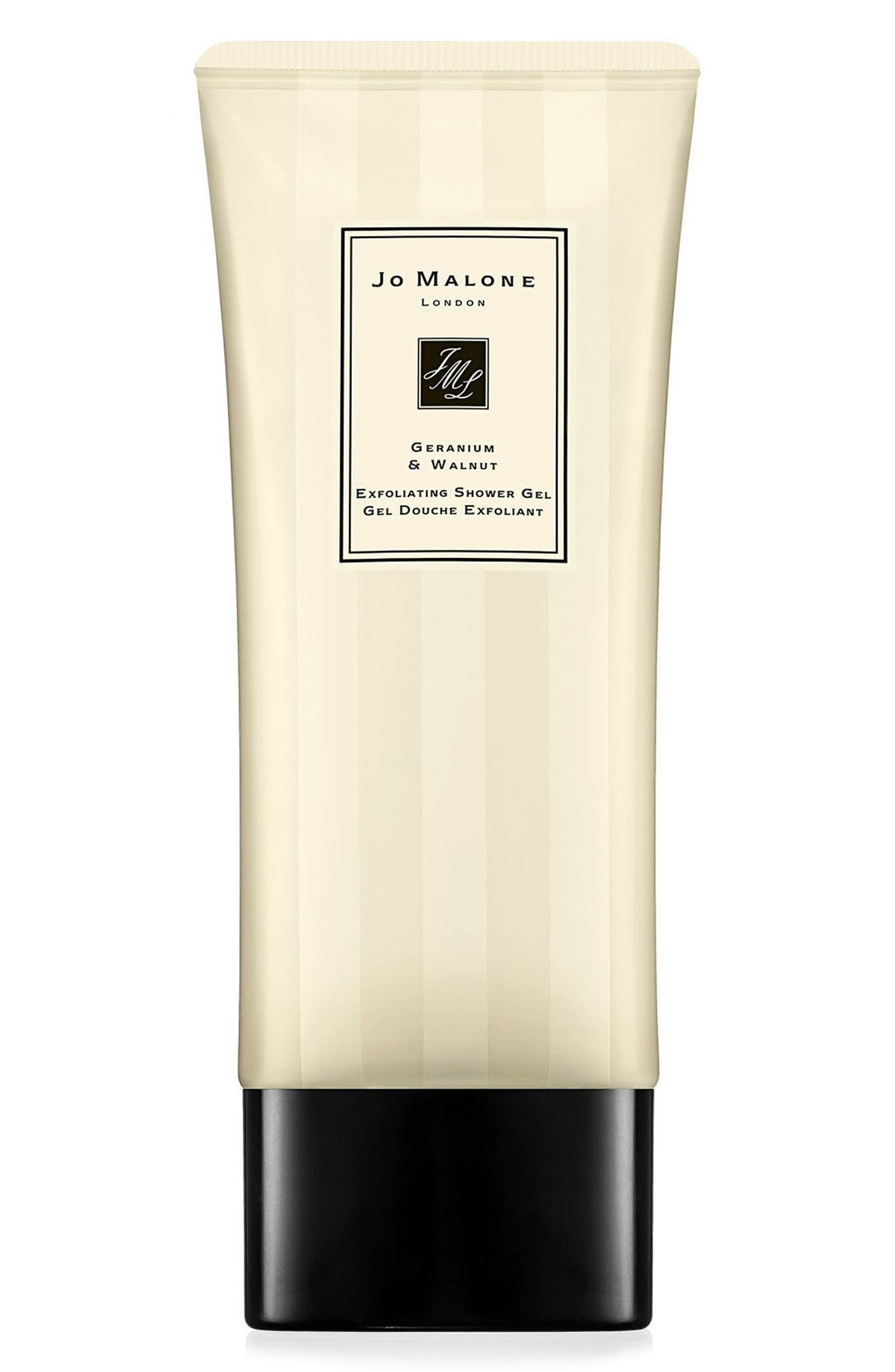 JO MALONE LONDON<SUP>™</SUP> Geranium & Walnut Exfoliating Shower Gel, Main, color, NO COLOR