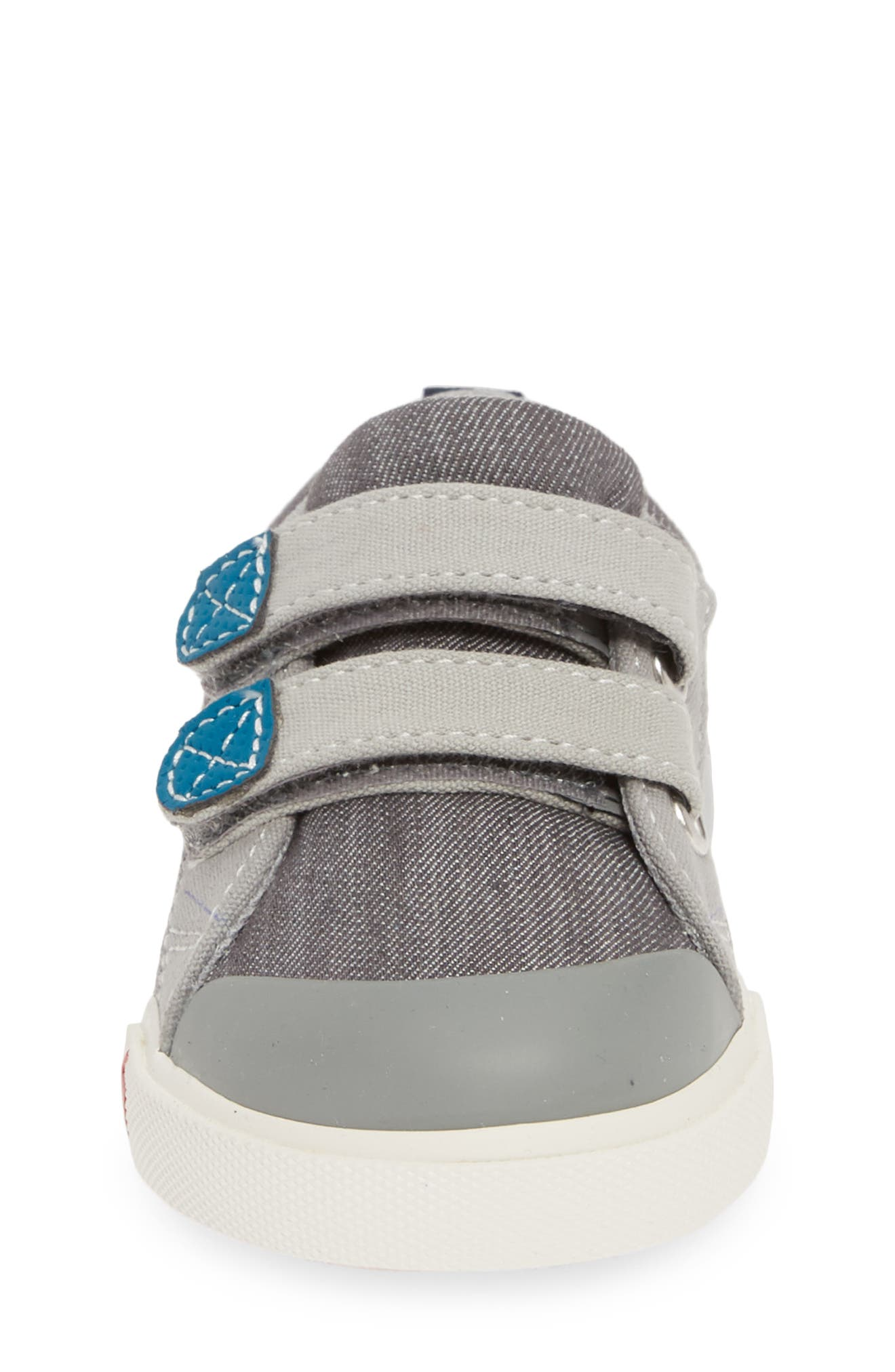 SEE KAI RUN, 'Russell' Sneaker, Alternate thumbnail 4, color, GREY/ TEAL